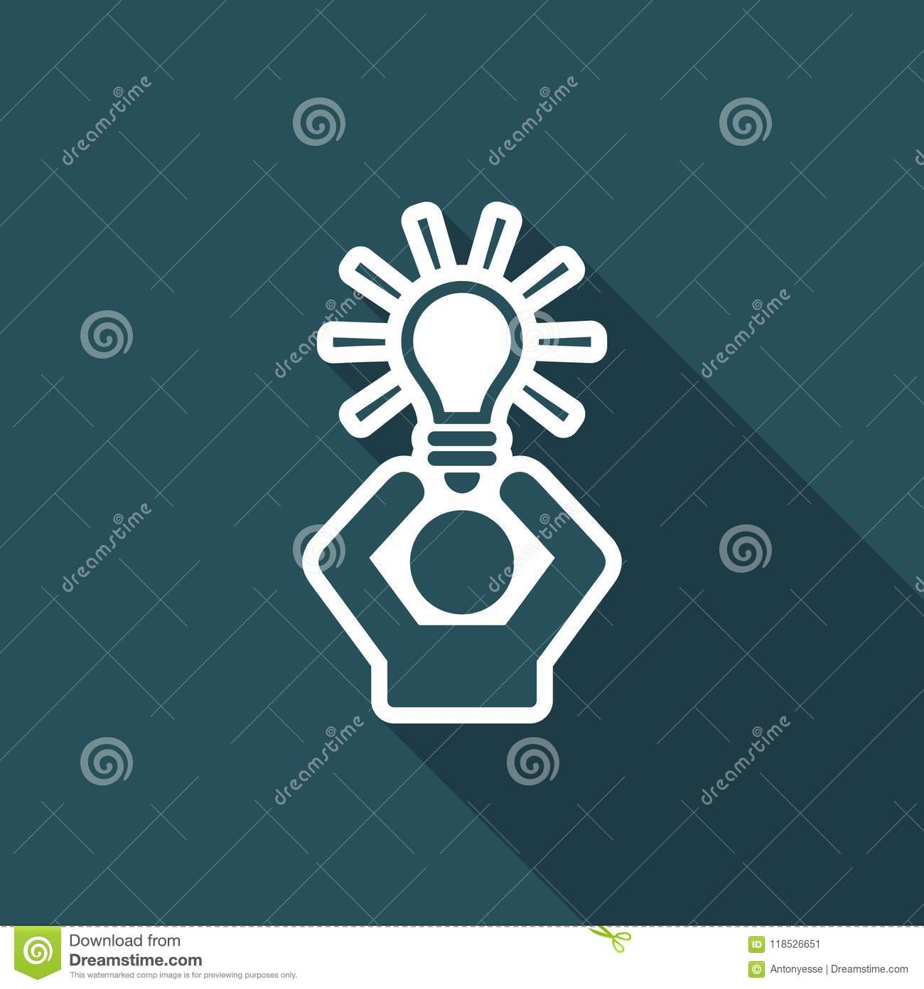 Propose Idea Or Solution Vector Web Icon Stock Vector