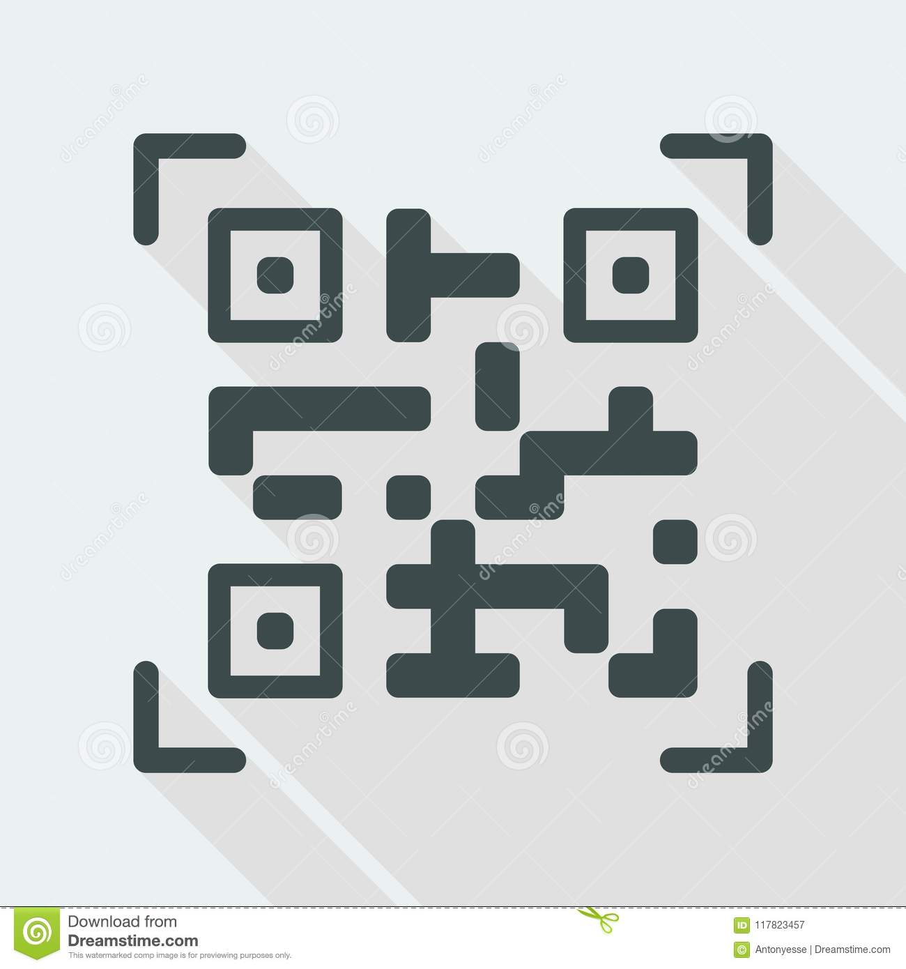 QR code icon stock vector  Illustration of scan, mobile - 117823457
