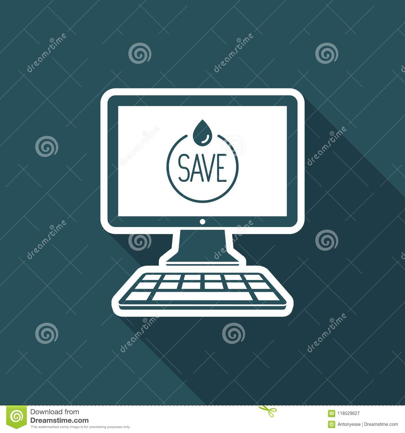 Save The Nature Page Vector Icon For Computer Website Or