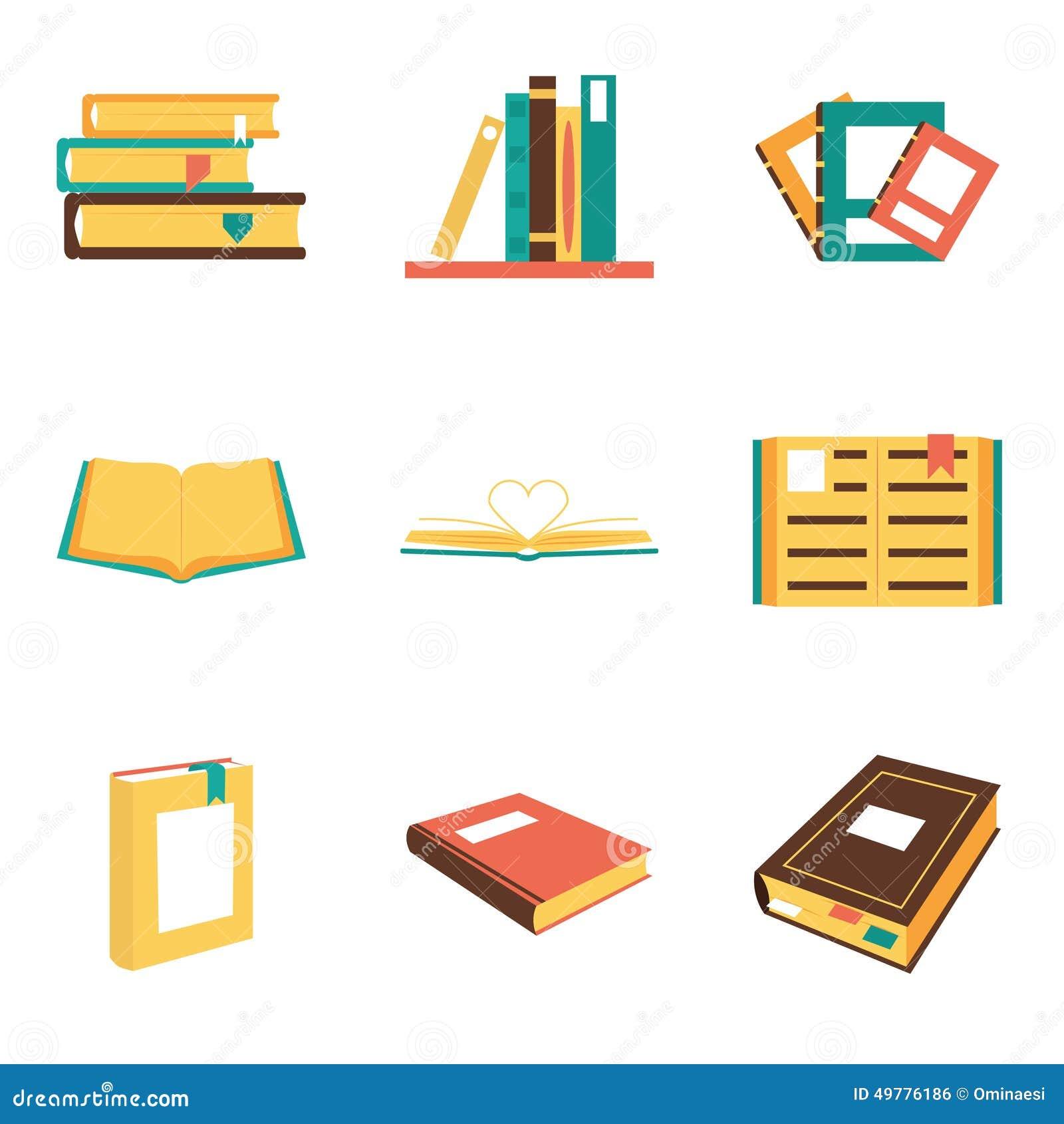 Book logos stock vector image 42714029 - Flat Isometric Book Icons Symbols Logos Isolated Royalty Free Stock Image