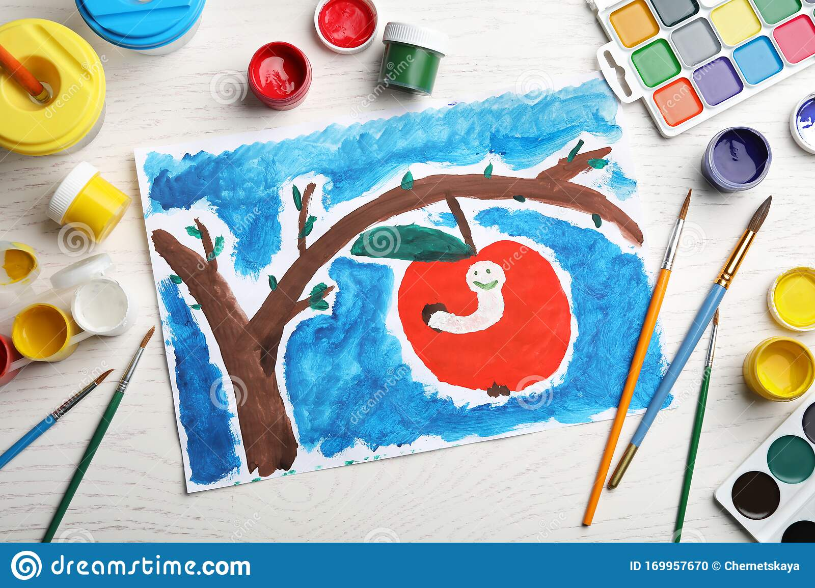 192 Apple Child Painting Photos Free Royalty Free Stock Photos From Dreamstime