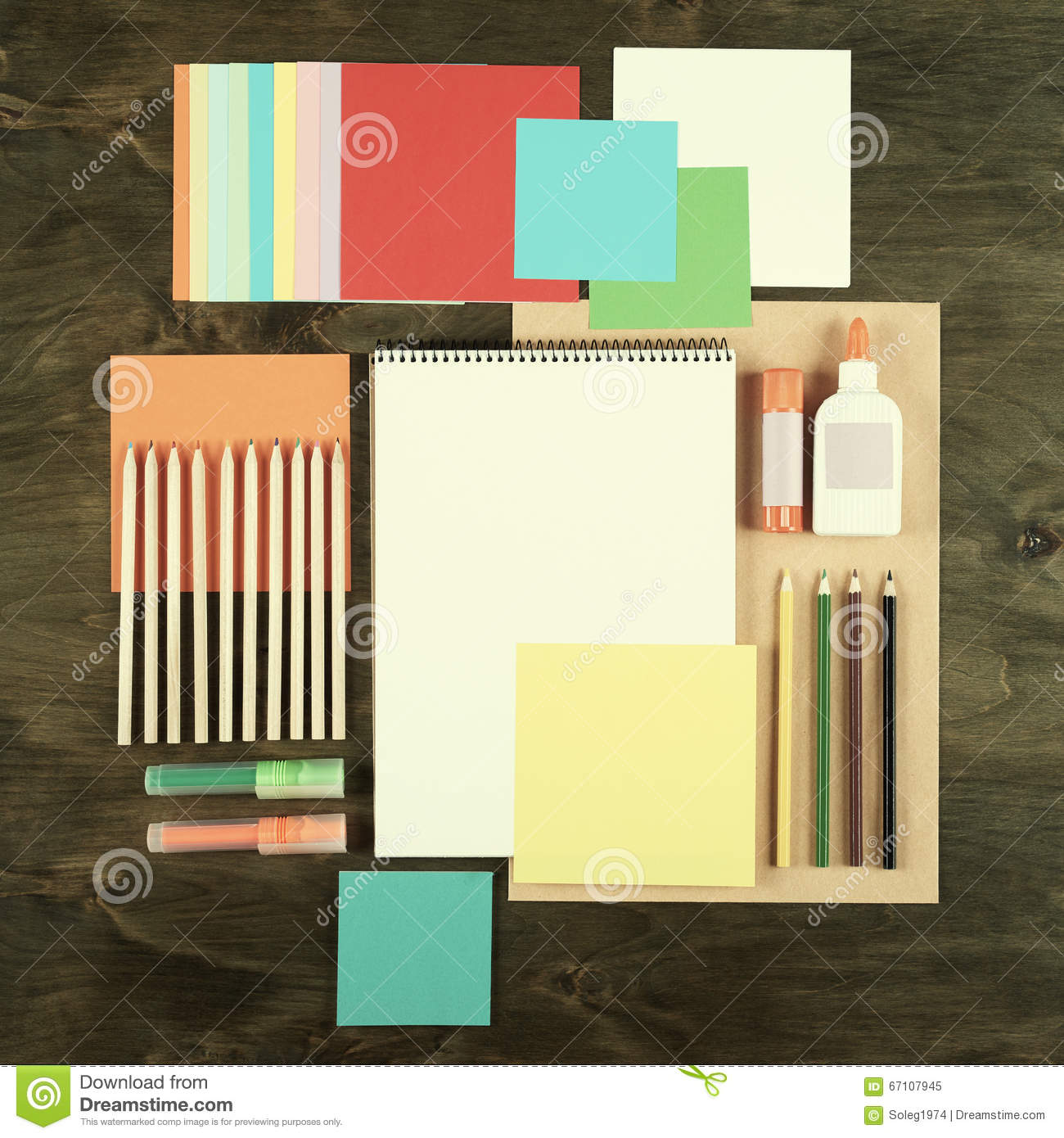 Background image 7945 - Flat Lay Office Tools And Supplies Education Background With Stationery On Wood Flat Design Of Creative Office Workspace Workpl