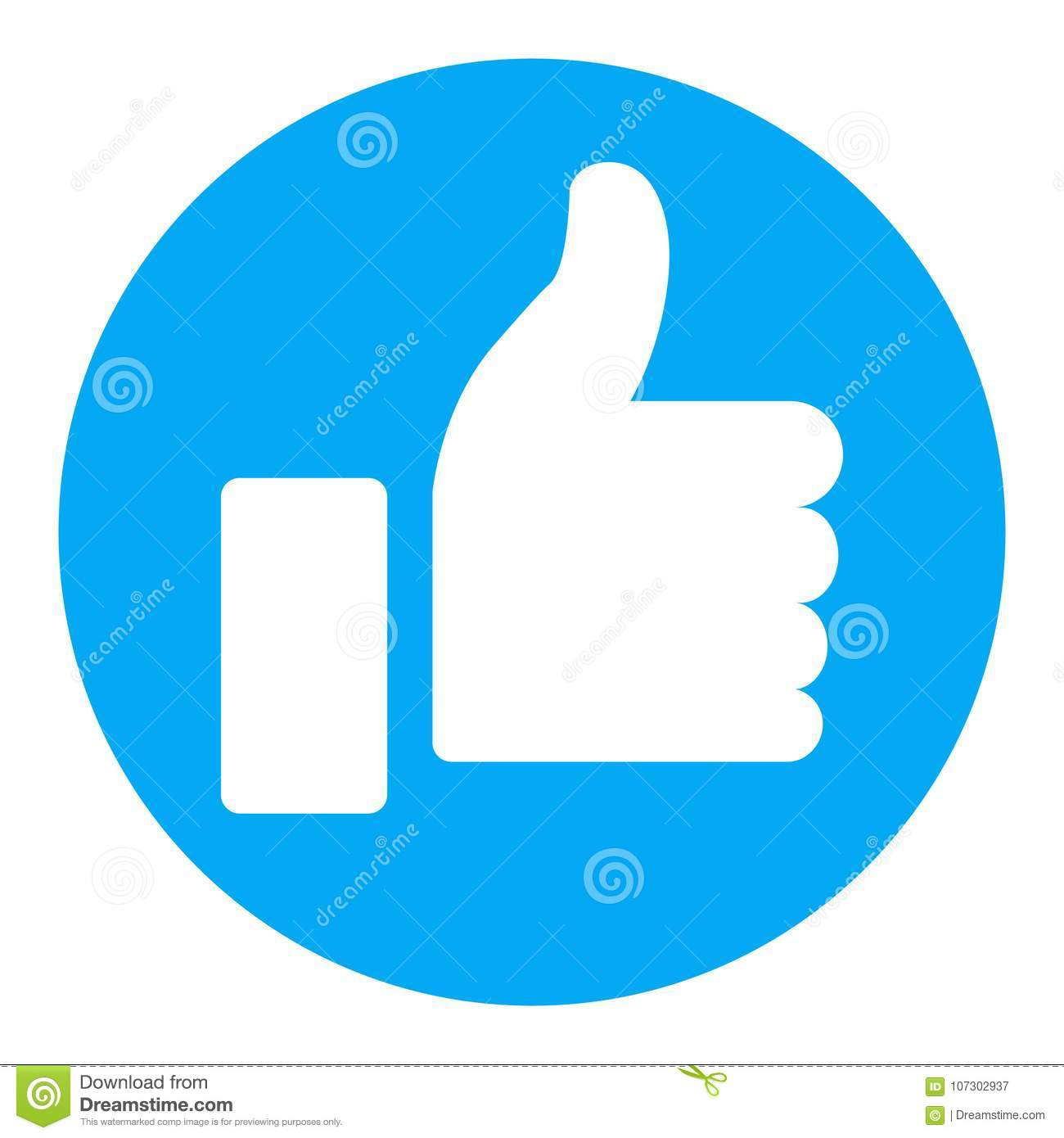Thumb Up Symbol Finger Up Icon Stock Vector Illustration Of Flat