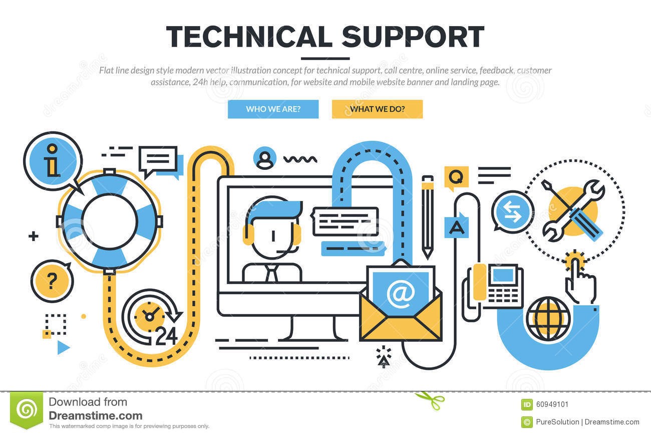 Flat line design vector illustration concept for technical for Architect services online