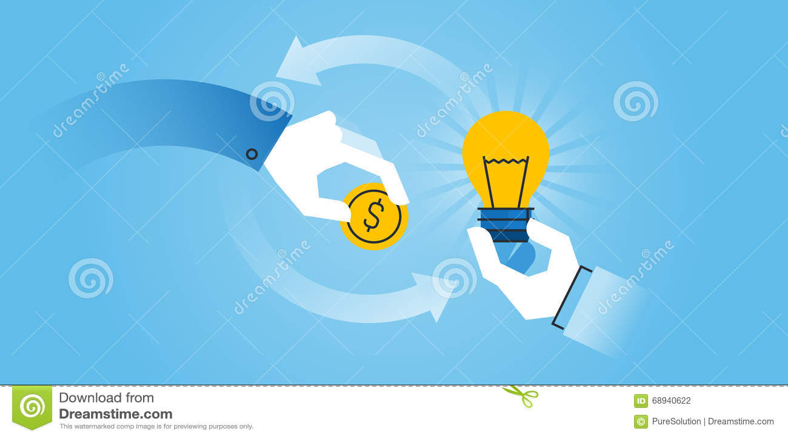 Line Design Solutions : Flat line design website banner of crowdfunding stock
