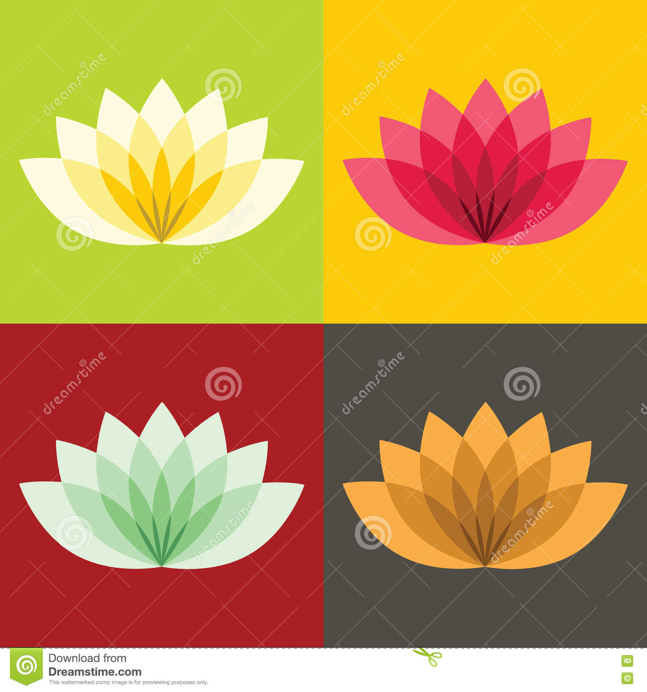 Old Fashioned Lotus Flowers Colors Image - Drawing Coloring ...
