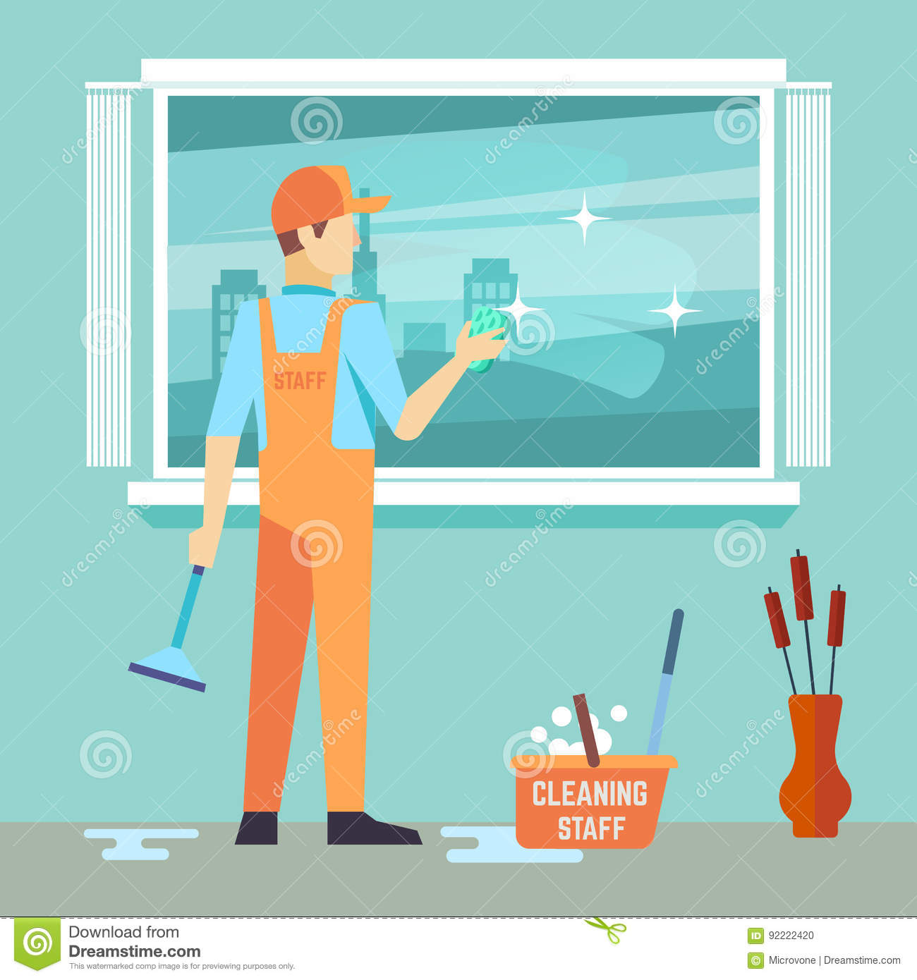 Janitor Cartoons Illustrations Amp Vector Stock Images