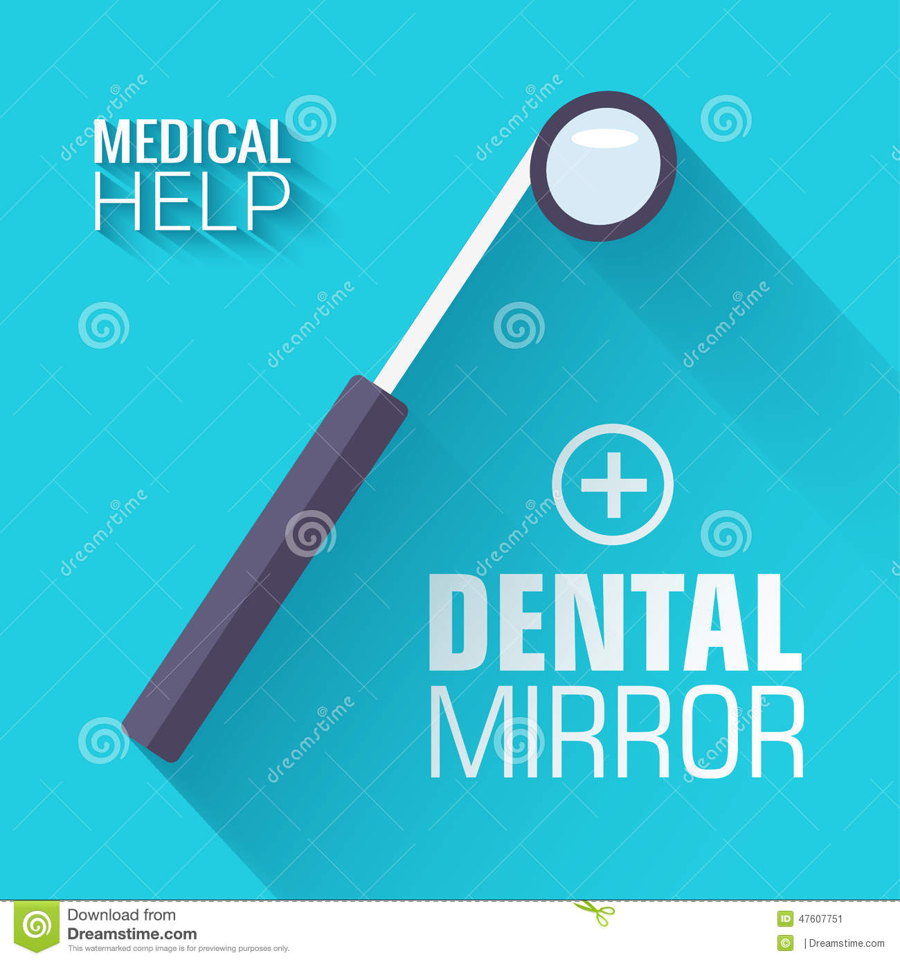 Dentistry Flat Icons On Blue Background Royalty-Free ...