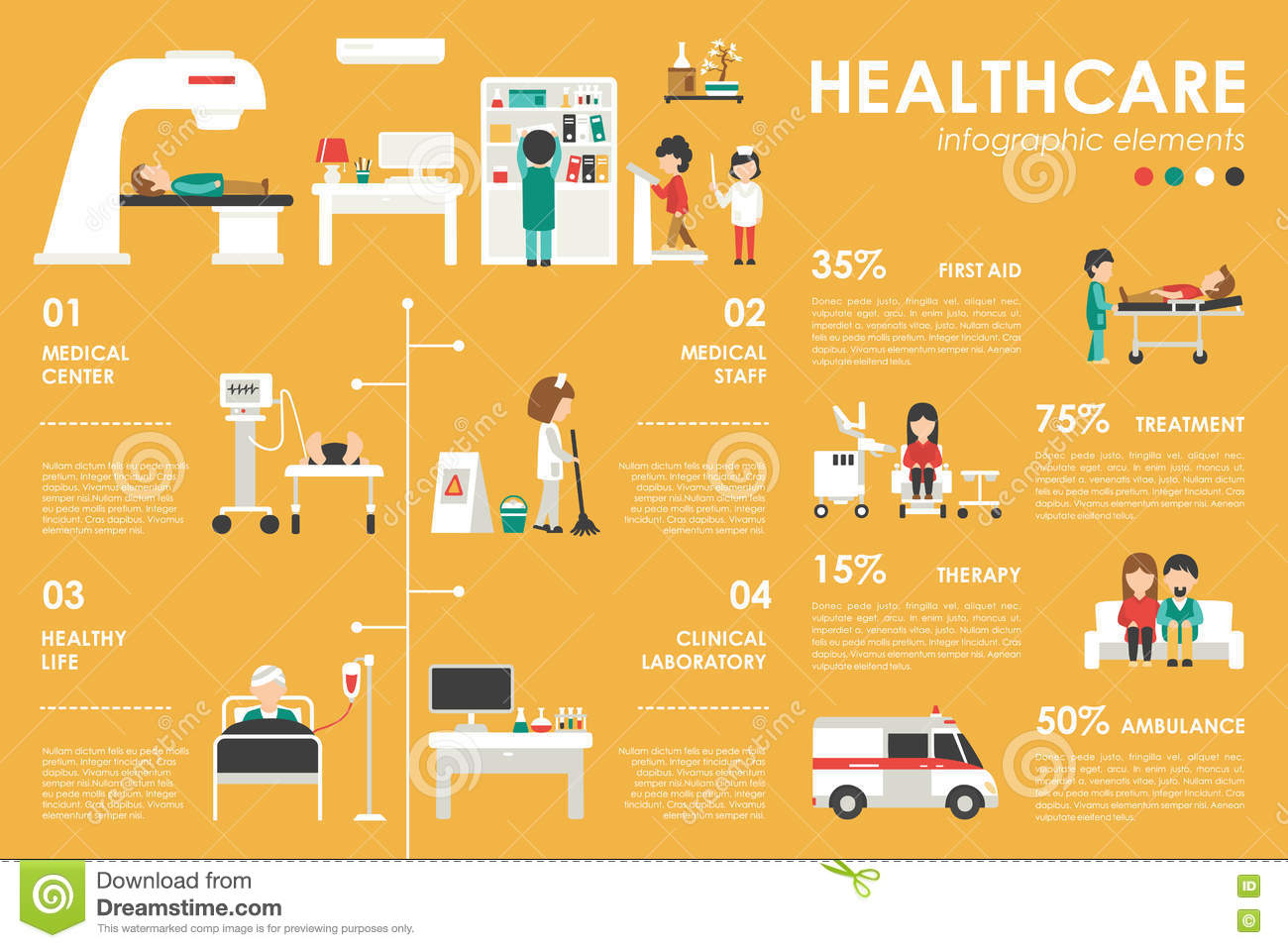 Infographic images healthcare buildings