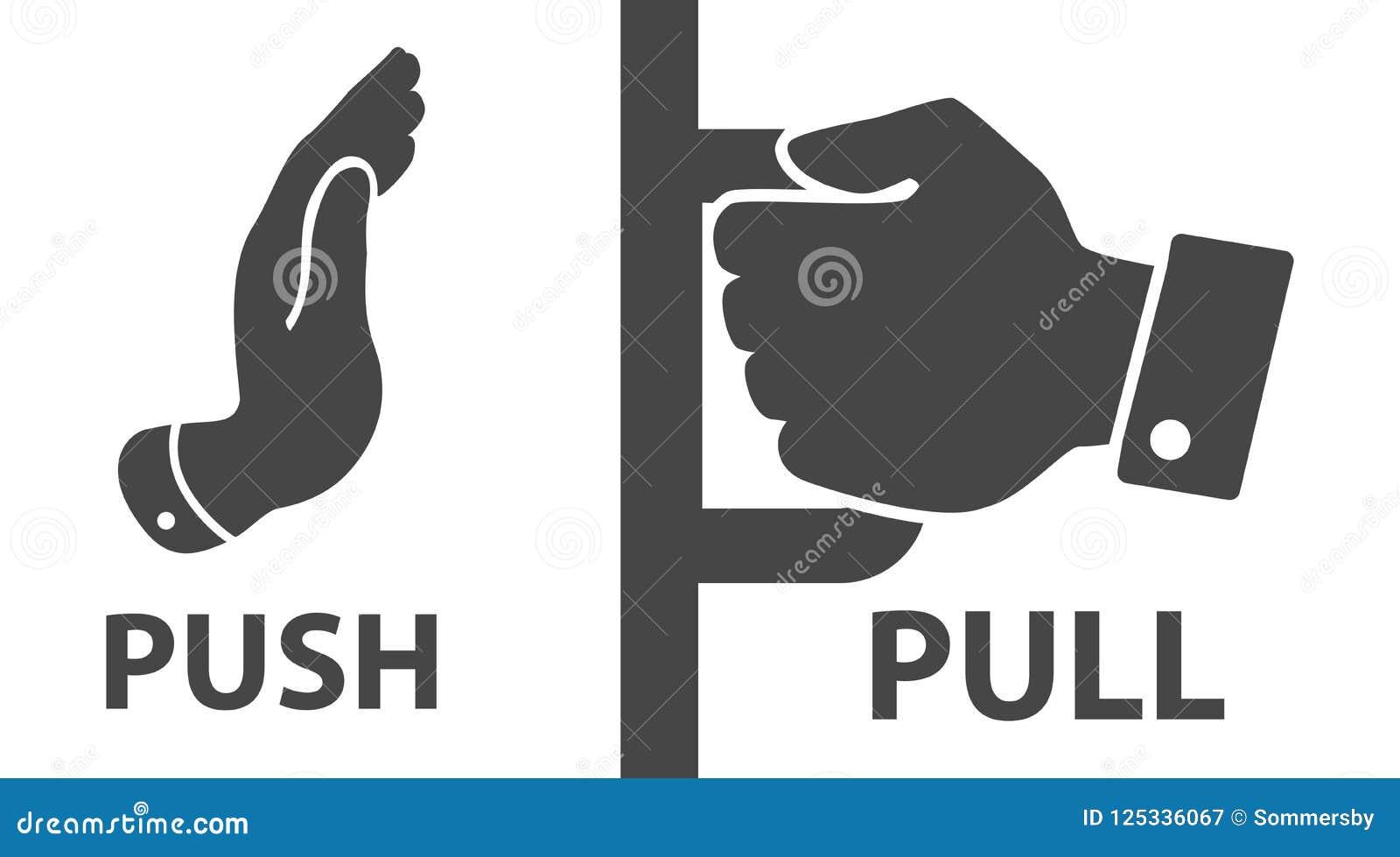 Push pull icon stock illustrations 322 push pull icon stock illustrations vectors clipart dreamstime