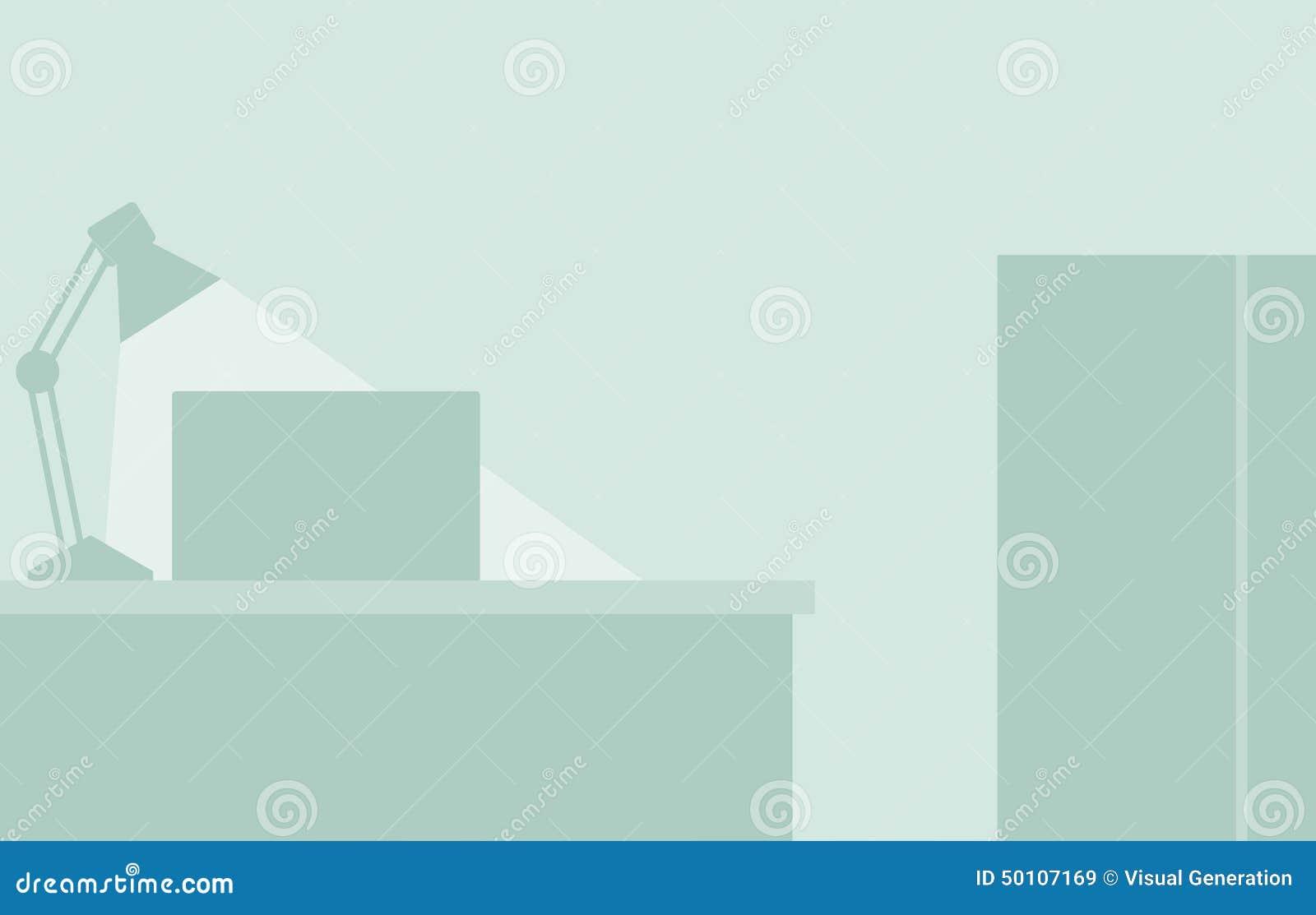 Flat Office Background Stock Illustration Image 50107169