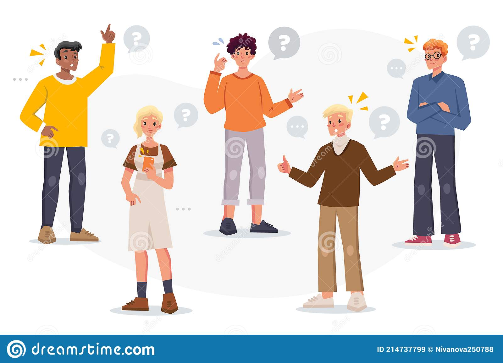 Group People Asking Questions Stock Illustrations – 156 Group People Asking  Questions Stock Illustrations, Vectors & Clipart - Dreamstime