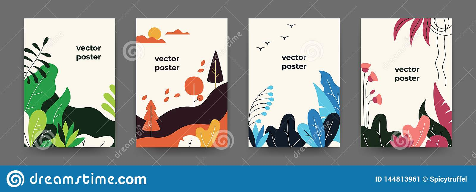 Geometric Space Vector Art Poster