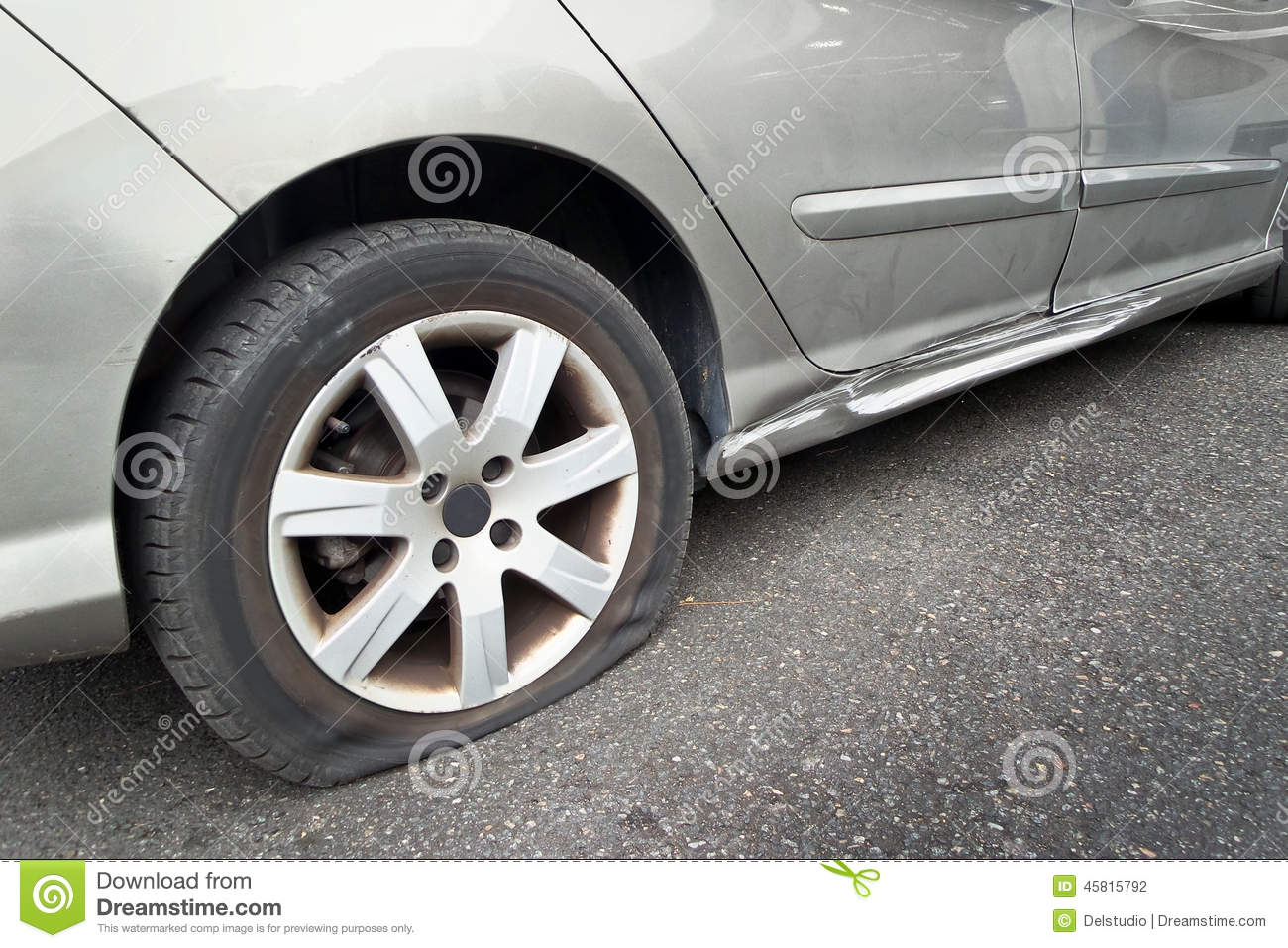 how to change a flat tyre on a car