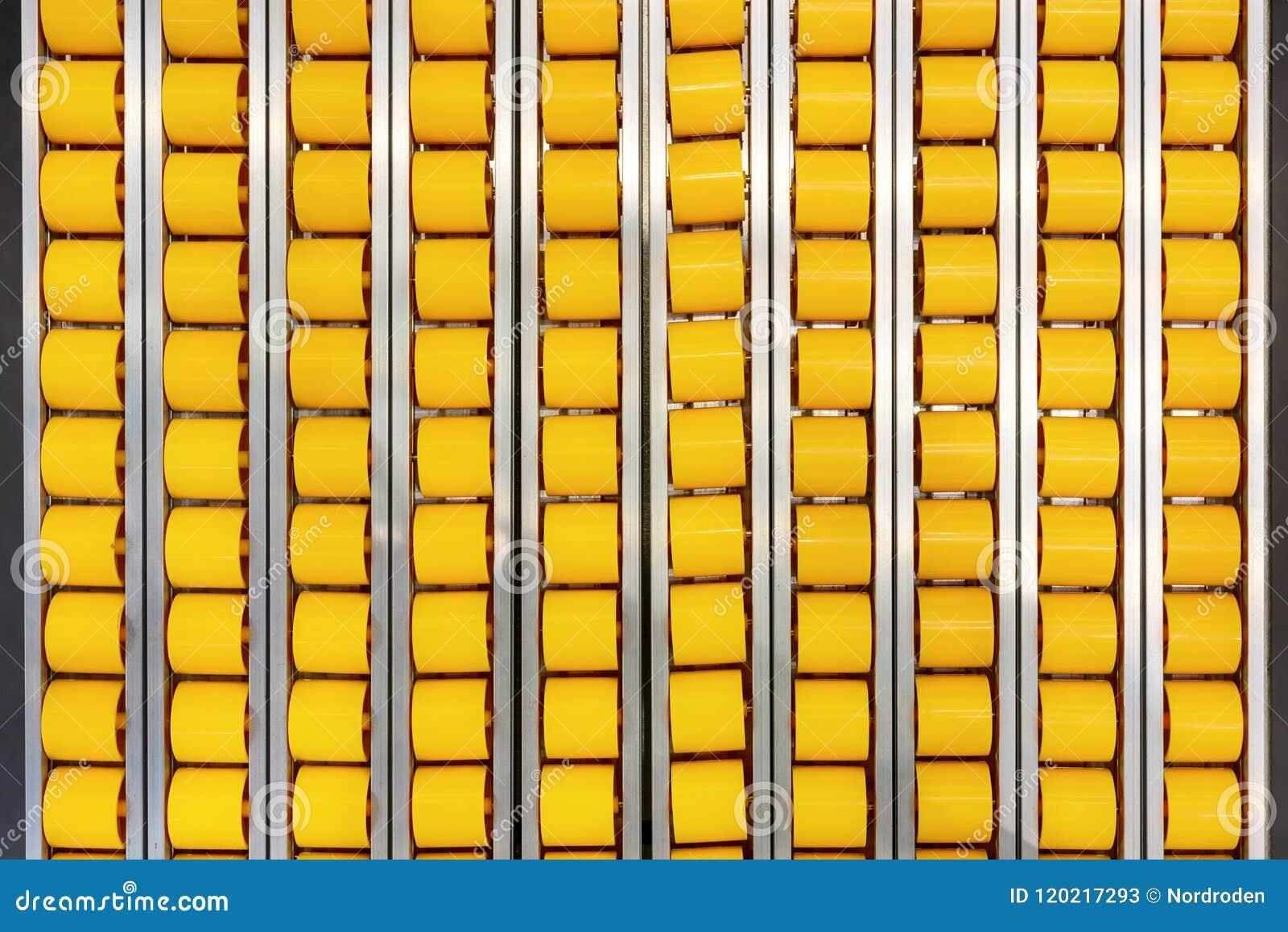 Fine Flat Roller Table Roller Conveyor Close Up Stock Image Interior Design Ideas Tzicisoteloinfo