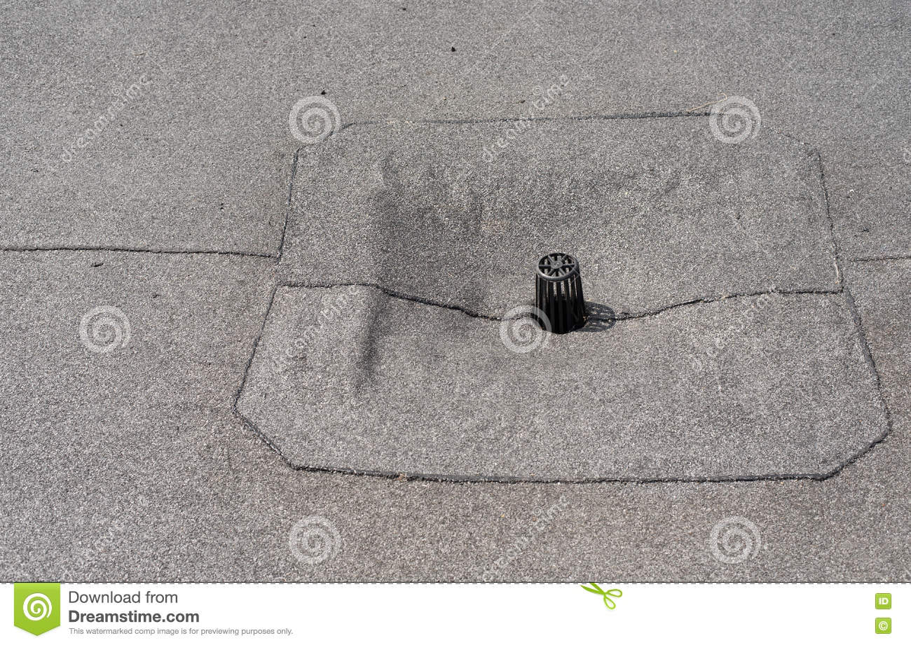 Flat Roof Drain Close Up Stock Photo Image 75341828
