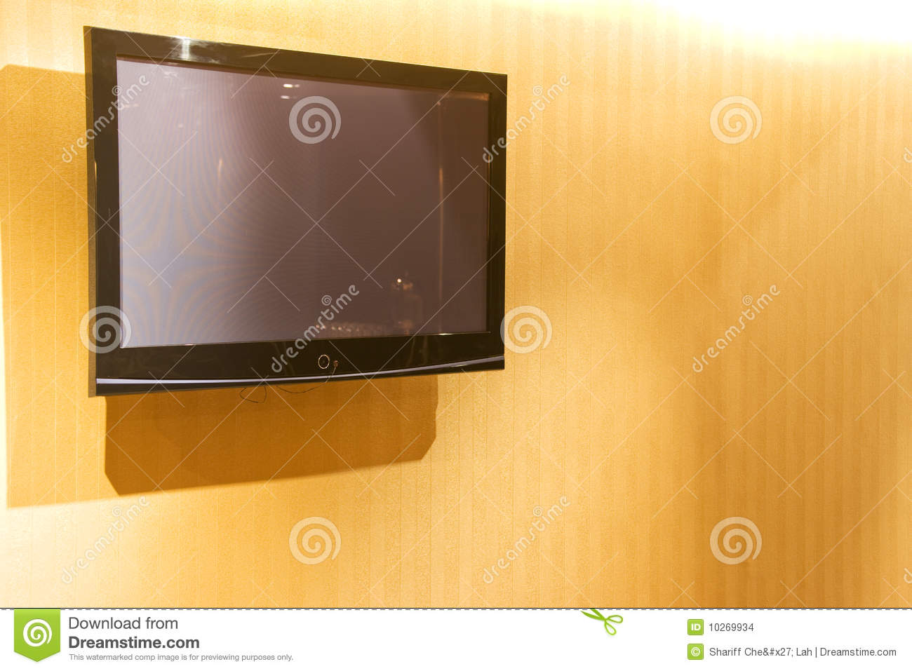 Flat Screen Television On Wall Stock Images Image 10269934