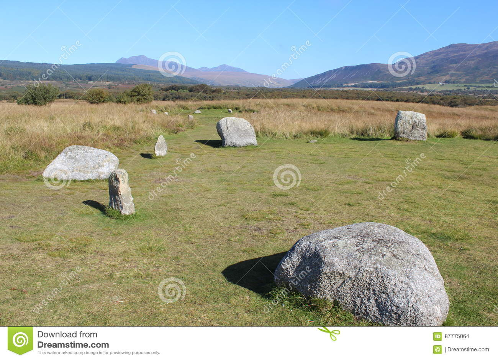 Flat Stone Circle on Isle of Arran