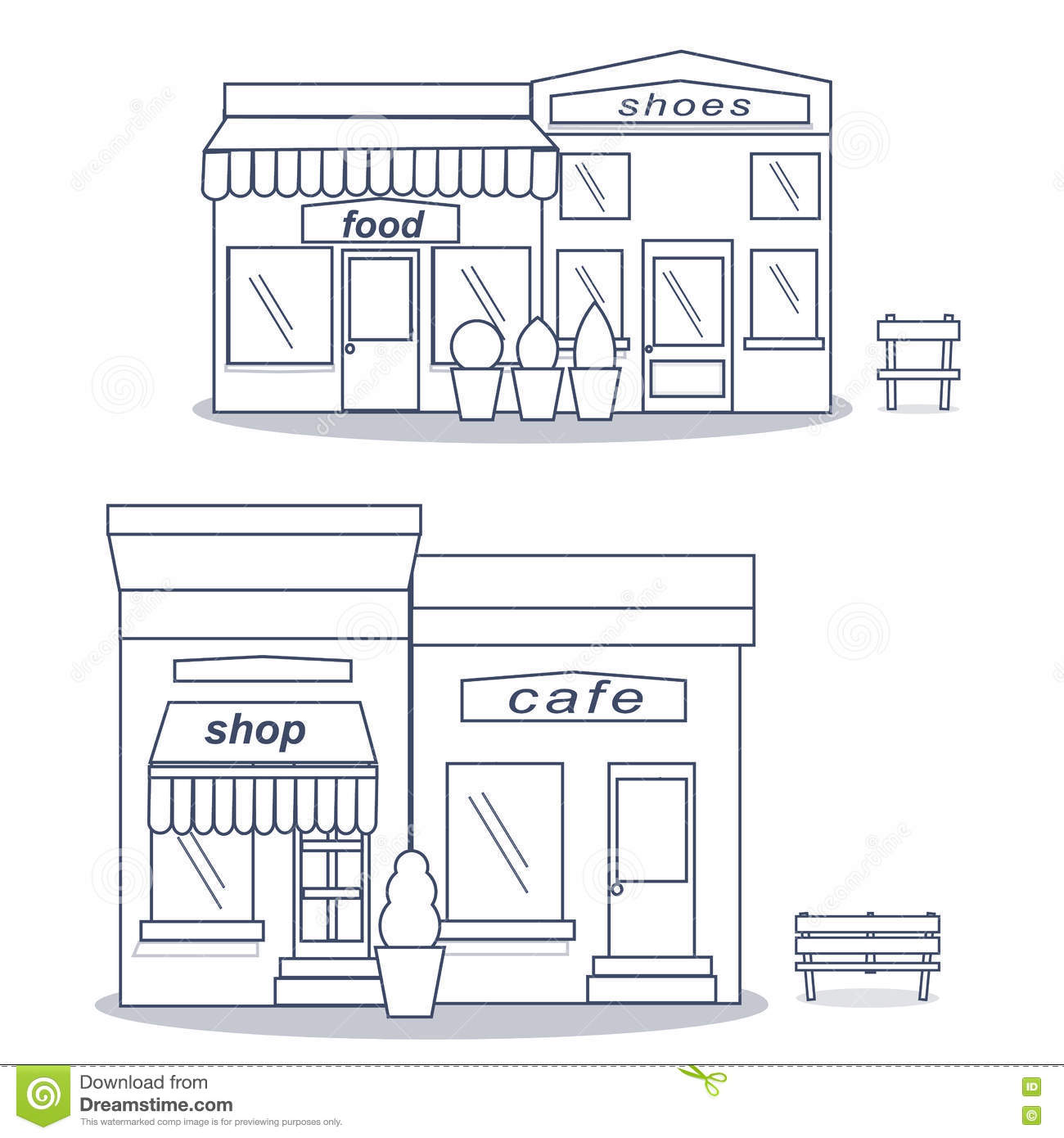Flat Design Showcase Restaurant Shop Facade Icon Store   -> Projekt Kuchni Black Red White