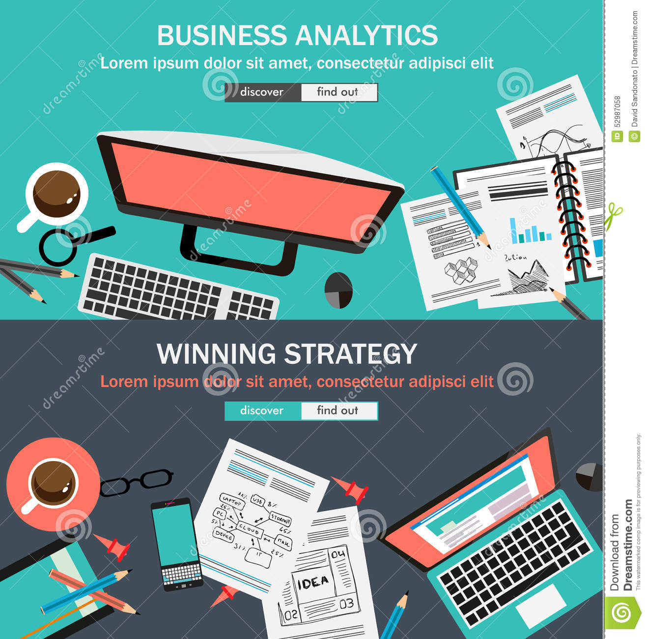 mega pack of design concepts for business strategy stock vector flat style design concepts for business strategy and career royalty stock photos