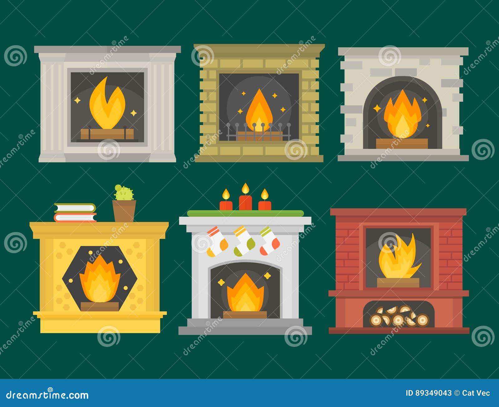 Corner fireplace: nice and comfortable