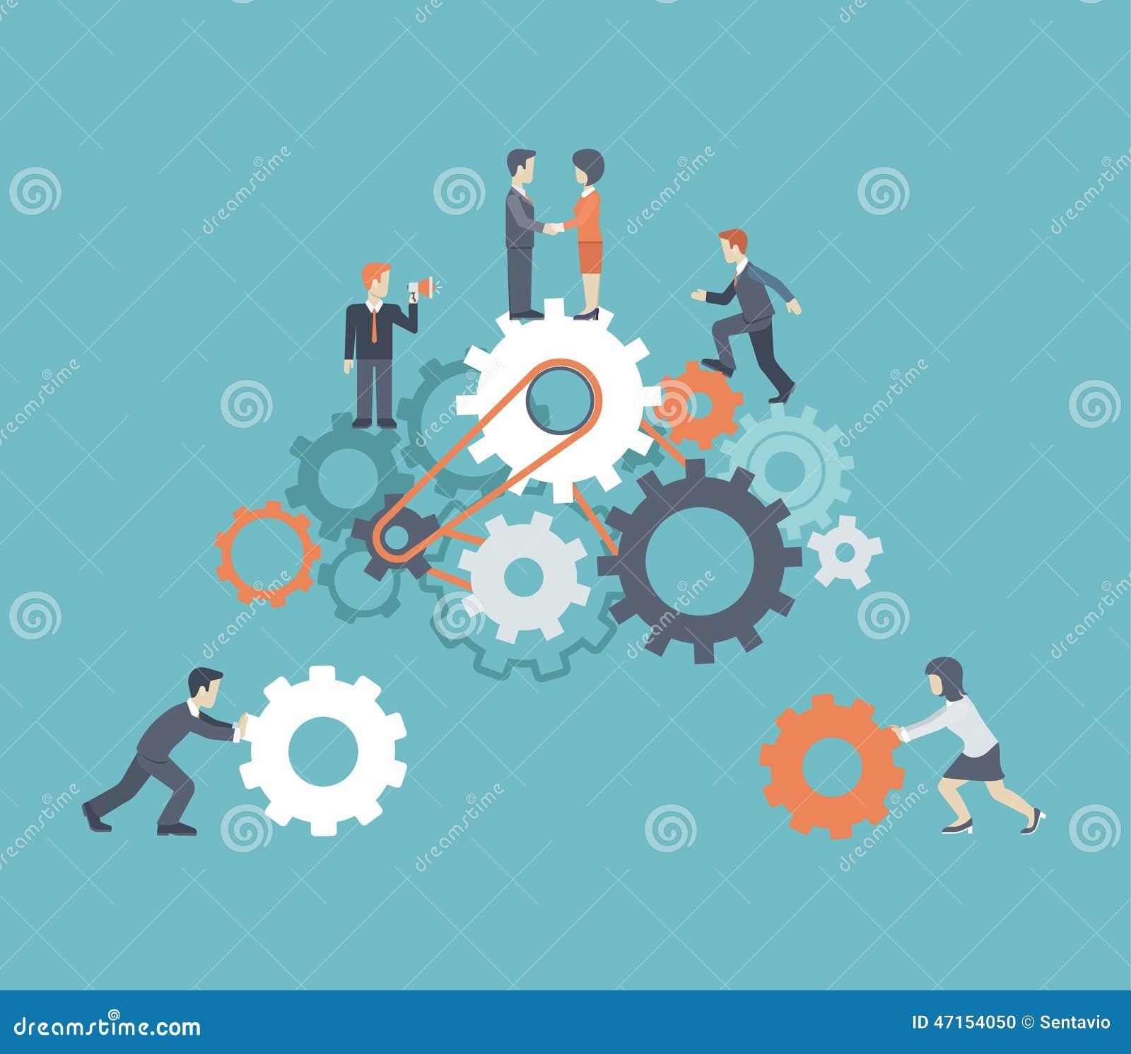 Flat Style Modern Teamwork, Workforce, Staff Infographic ...