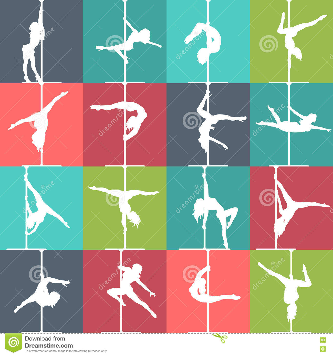 How To Attempt A Good Strip flat-style-pole-dance-pole-fitness-icons-vector-silhouettes-female-pole-dancers-colorful-76268699