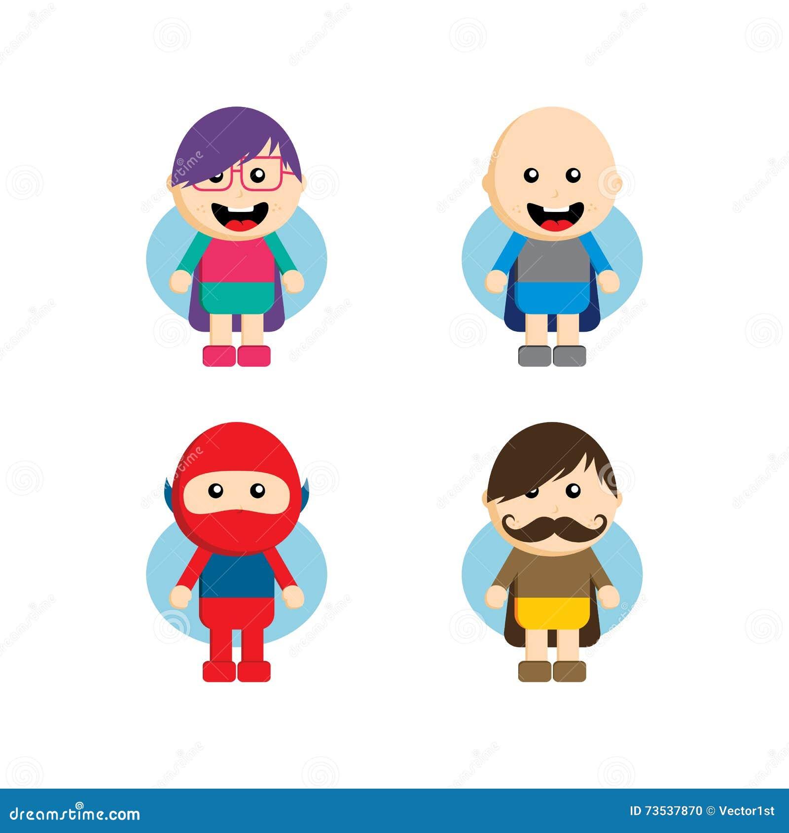 flat style superhero character stock vector illustration of