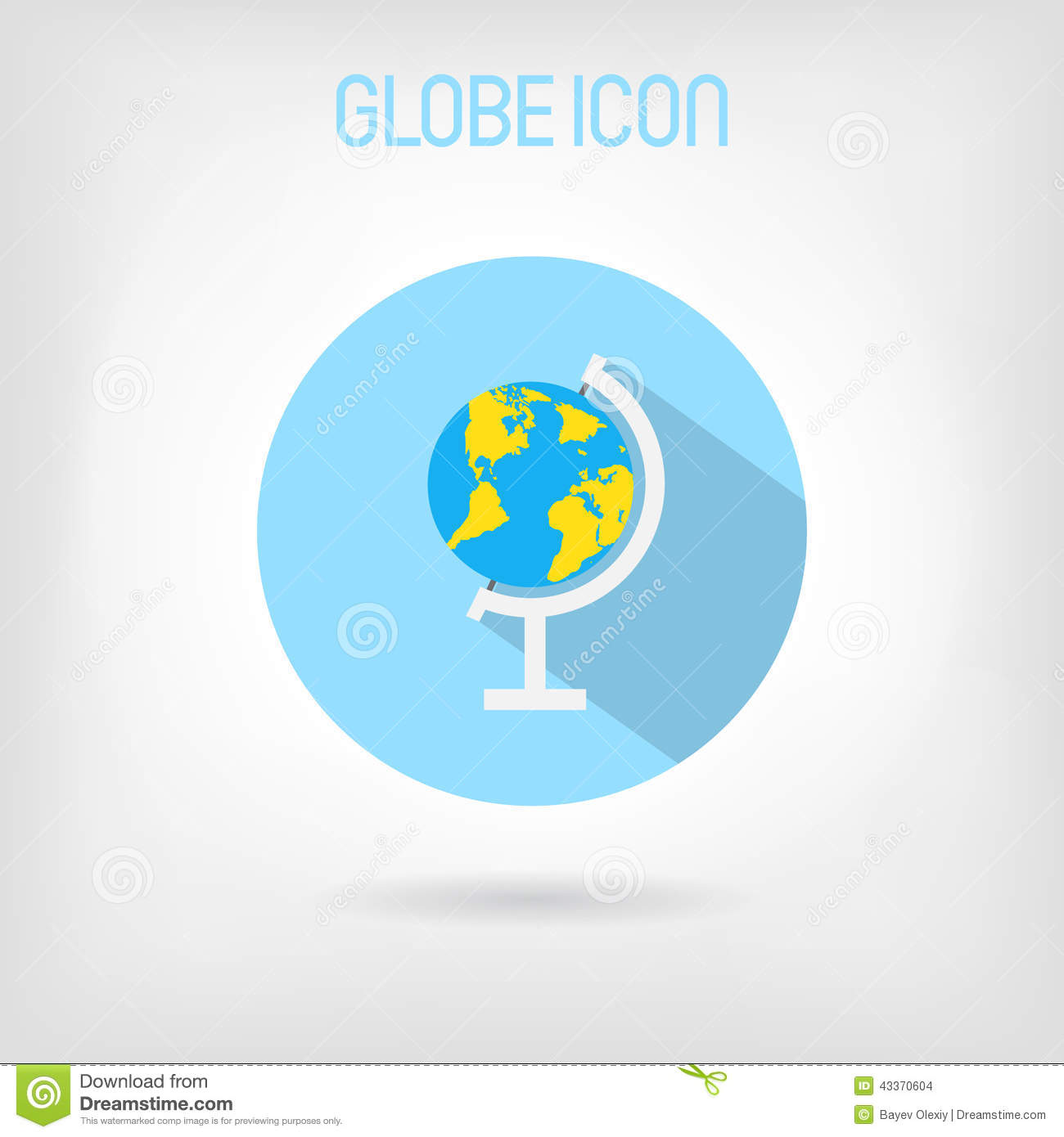 Flat styled school globe icon stock vector illustration of nature download comp gumiabroncs Images