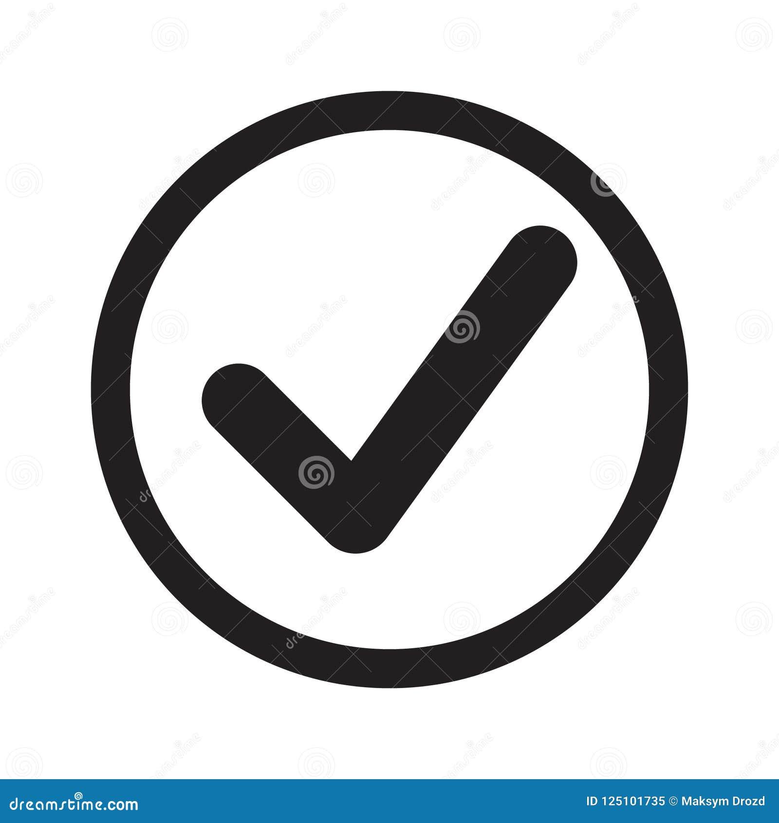 Flat Tick Icon  Check Icon, Check Mark In Round Sign  Stock