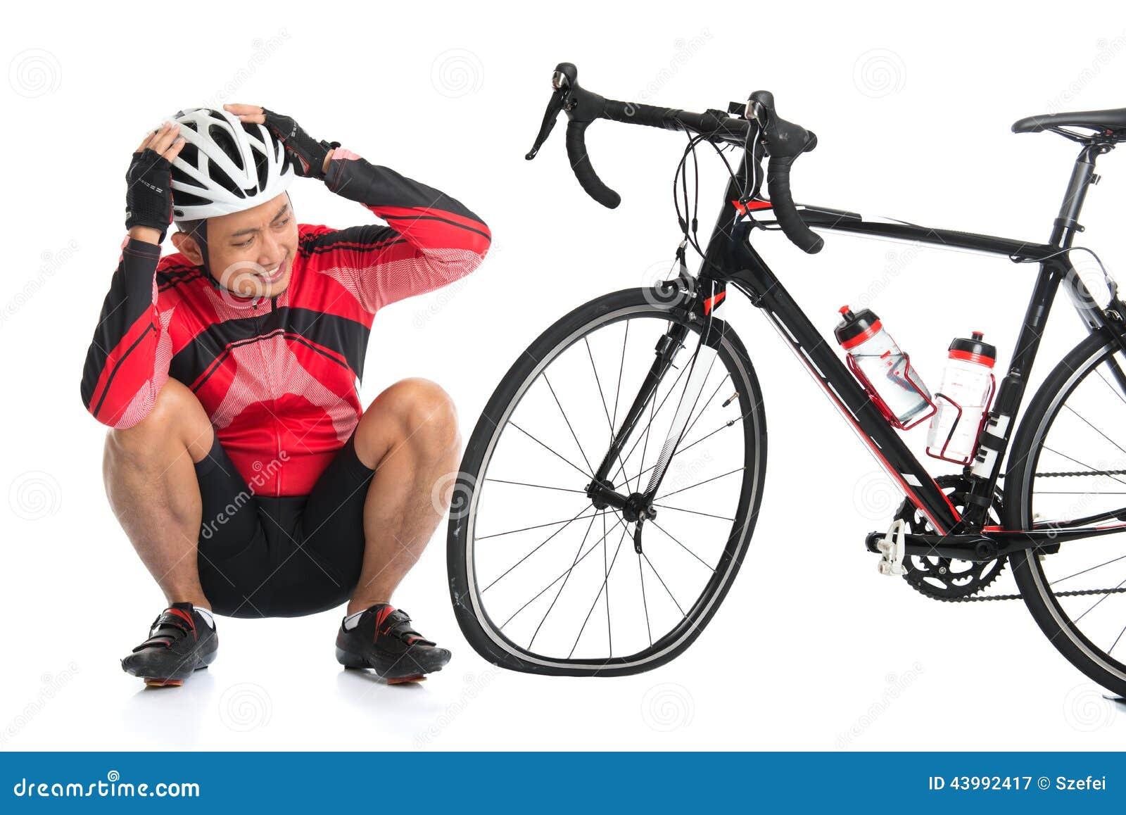 Flat tire bike stock image. Image of cycle, cycler ...