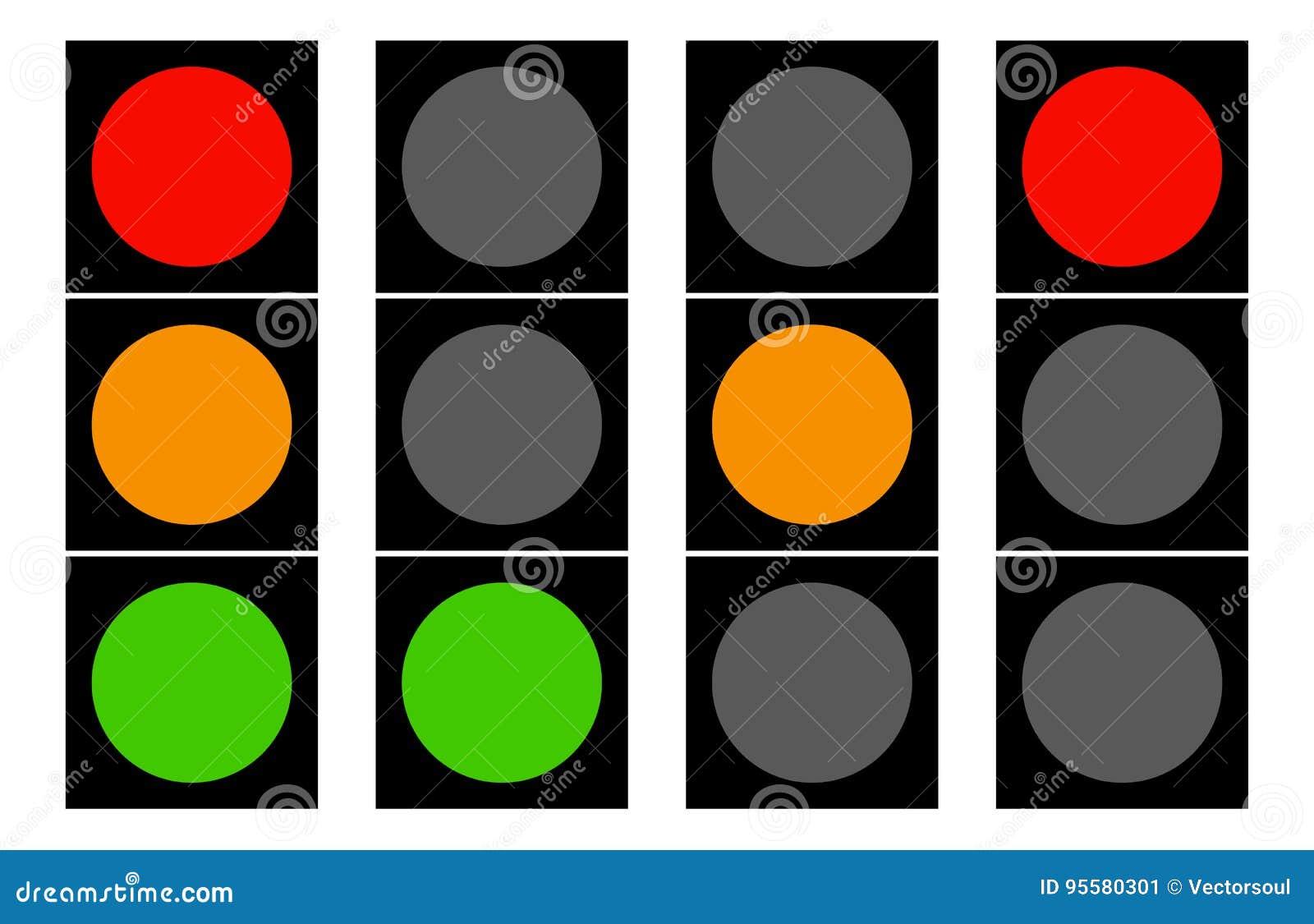 Elegant Download Flat Traffic Light Icons. Traffic Lamps, Semaphore Stock Vector    Illustration Of Abstract Amazing Design