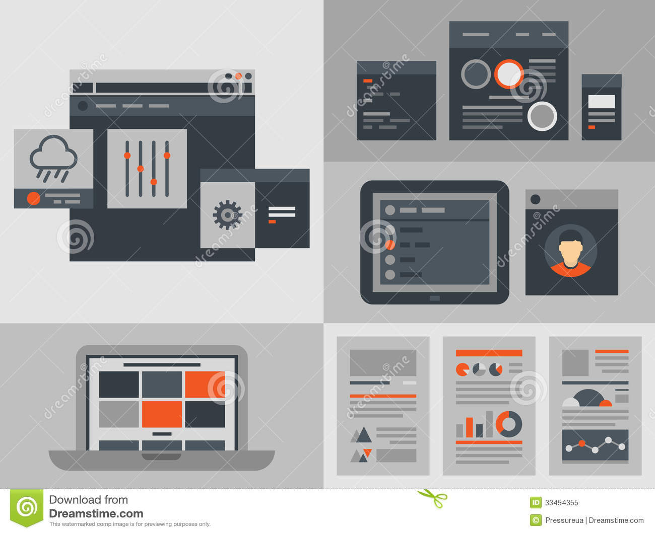 Flat User Interface Design Elements Royalty Free Stock