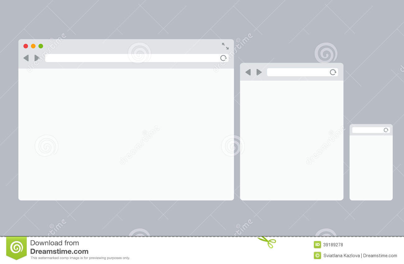 flat vector browser templates stock vector illustration of