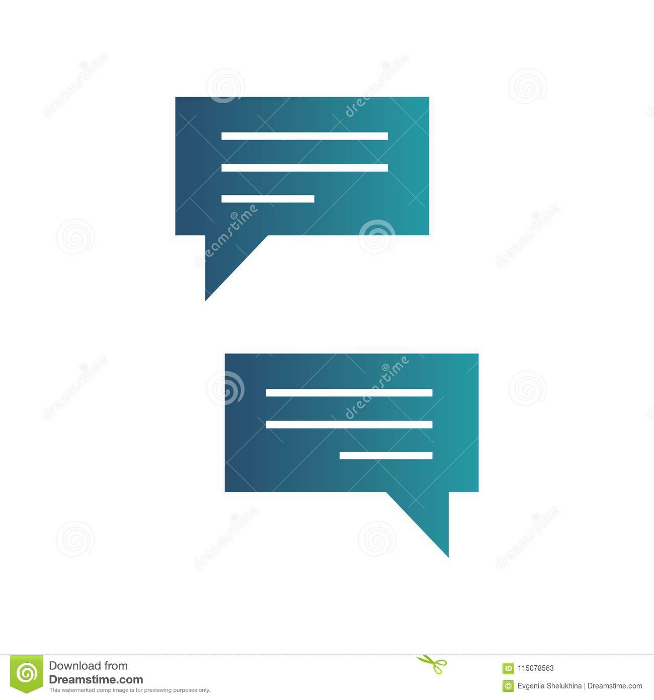 Chatting Icons  Messenger Application  Text Messaging Flat