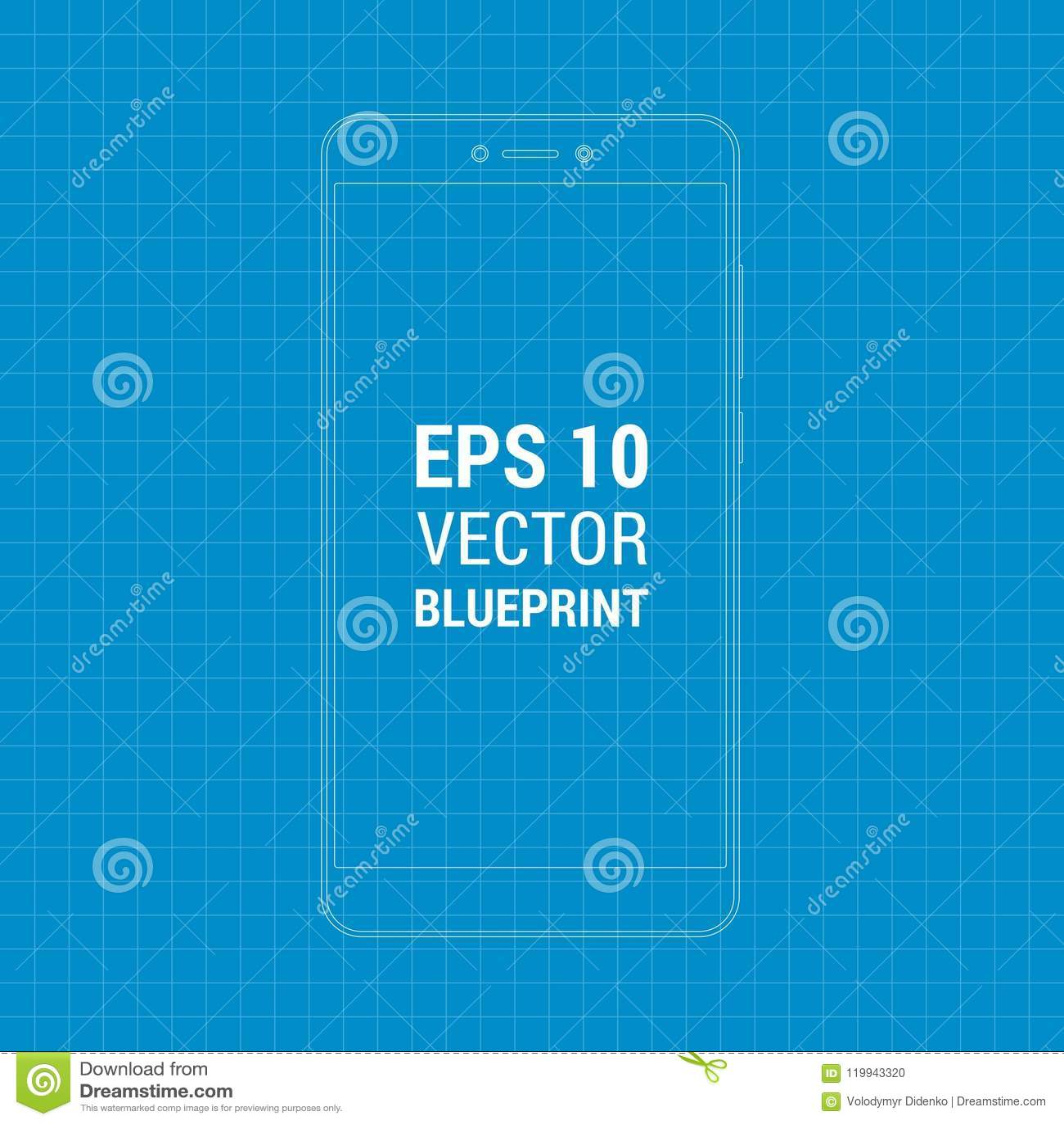 Blueprint Outline Flat Mock-up Xiaomi Redmi Note 4  Scale