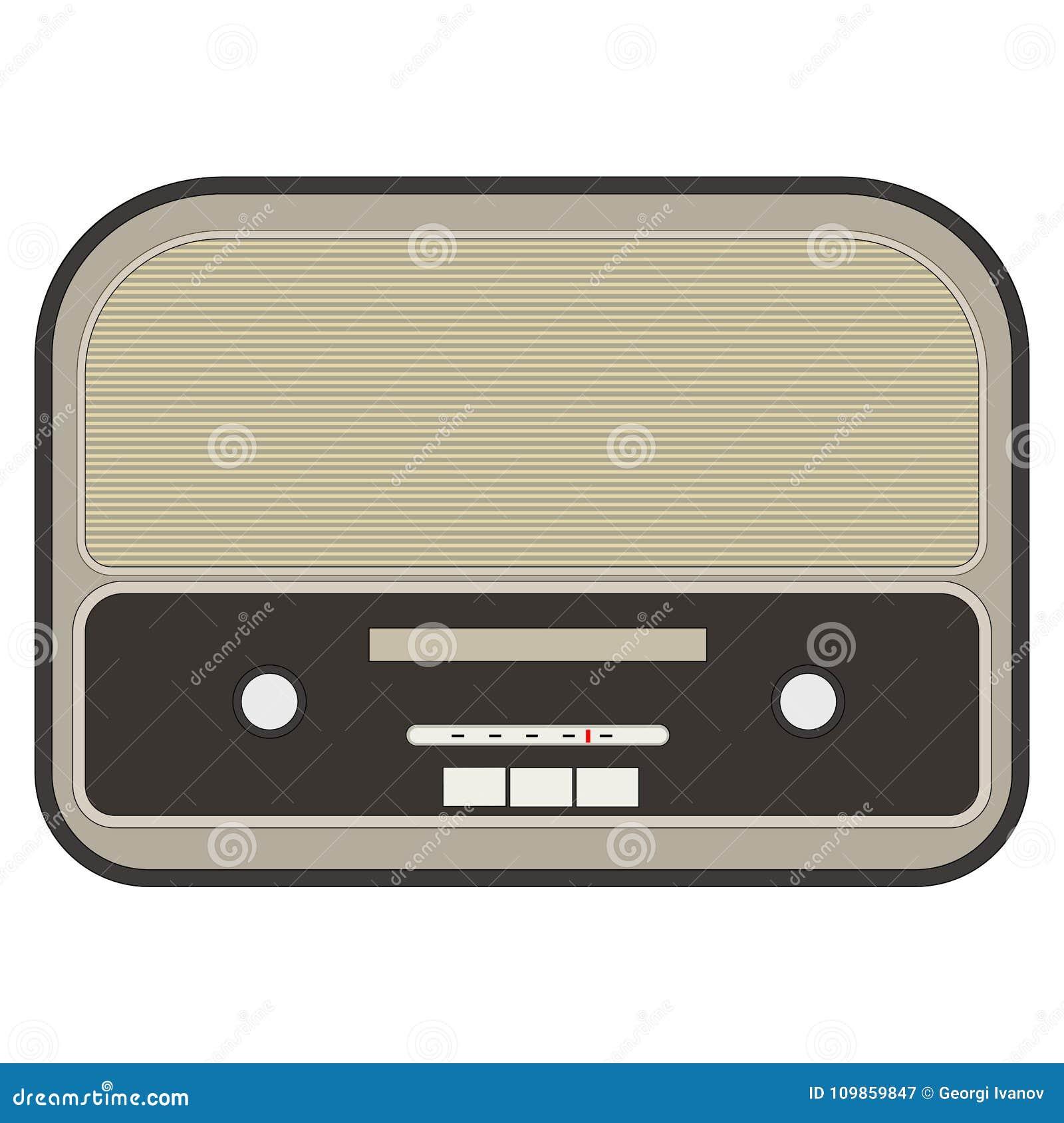 Flat, Vector Retro Radio Design/icon Stock Vector - Illustration of ...