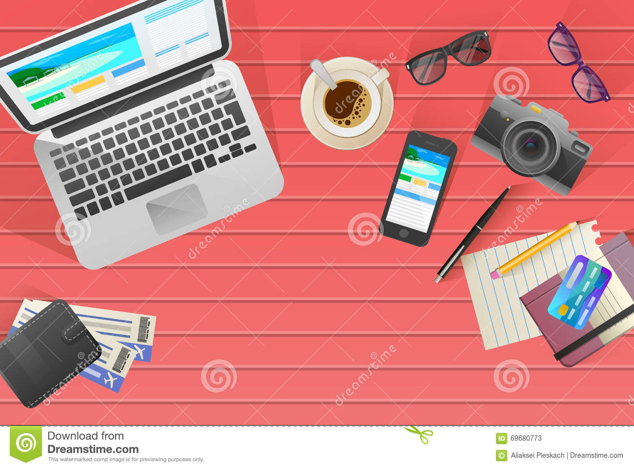 Banner Office Theme Stock Vector - Image: 57622955