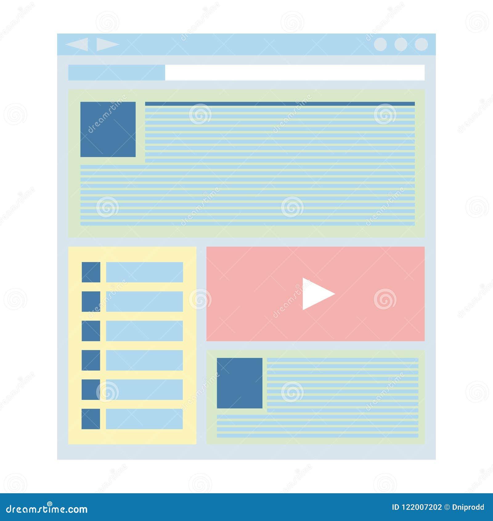 Flat Style Responsive Webdesign Technology Stock Vector: Flat Website Template, Web Design Technology Stock Vector