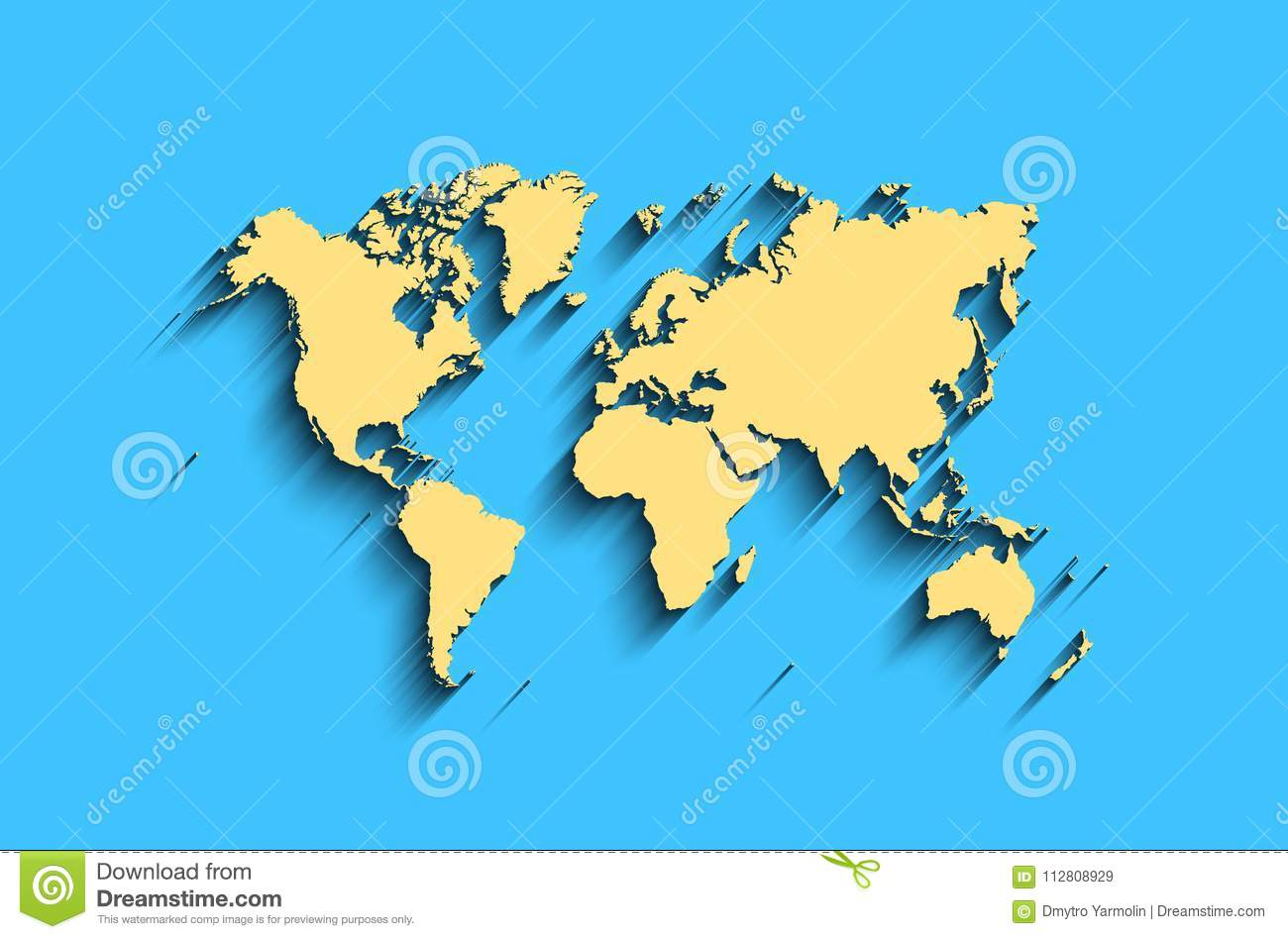 flat world map abstract background for wallpaper banner stock