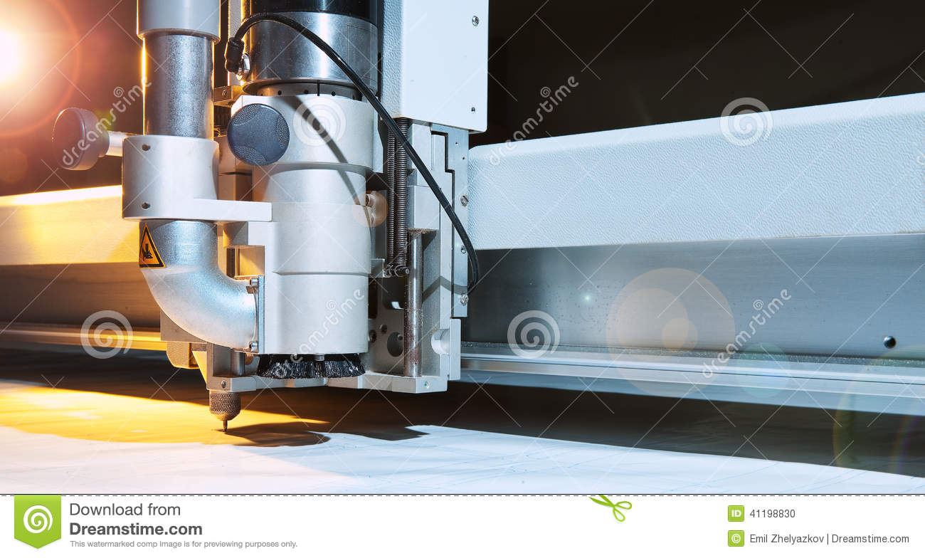 Flatbed Cutter Plotter Stock Photo Image Of Film