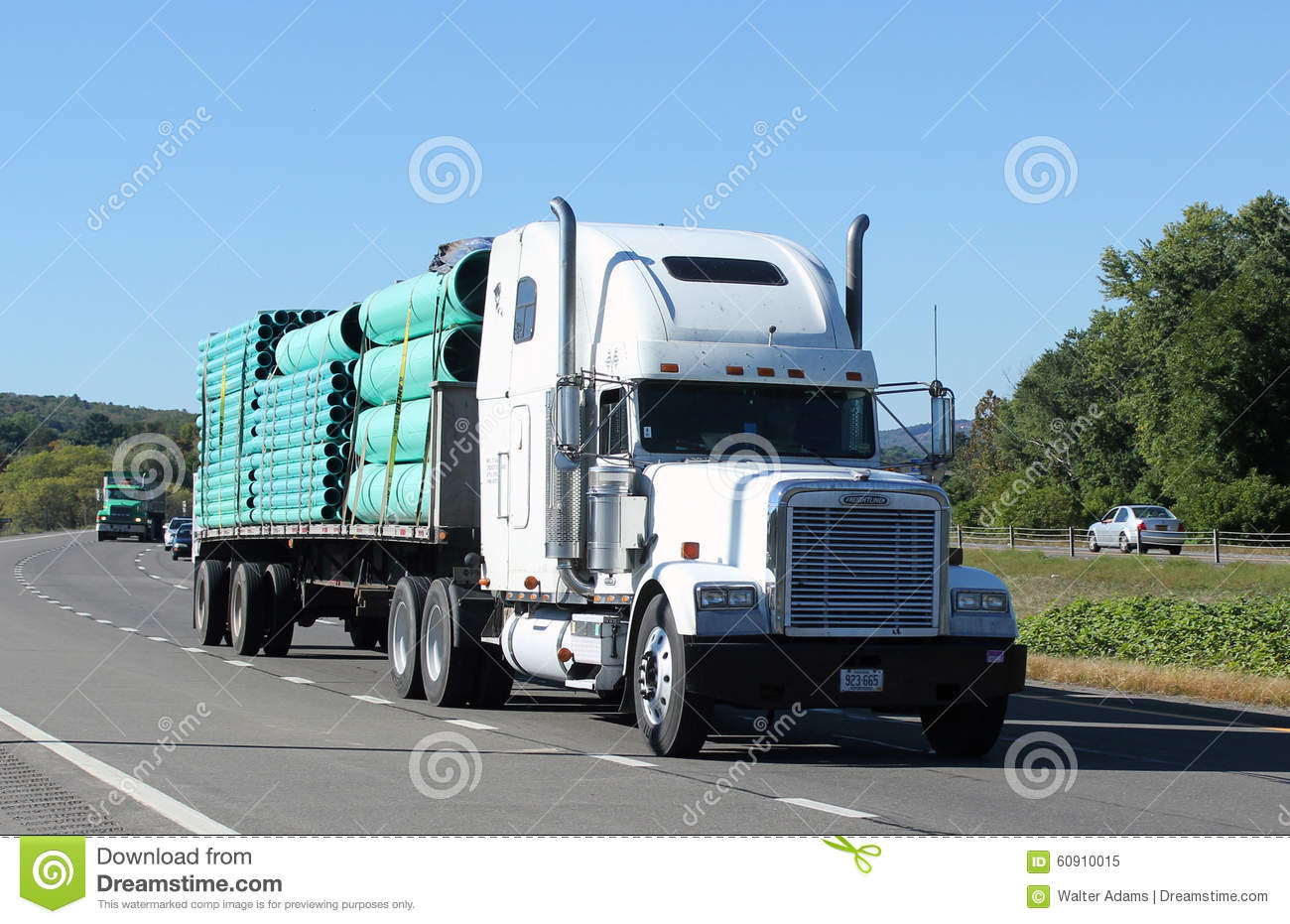 18 Wheeler Prices >> Flatbed tractor trailer editorial image. Image of shipping - 60910015