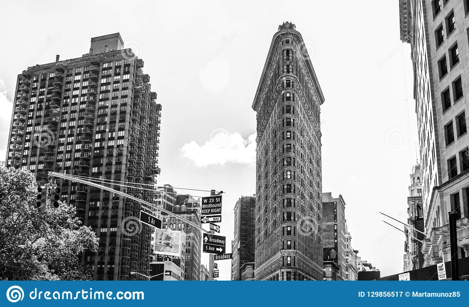 The Flatiron Building, New York City.