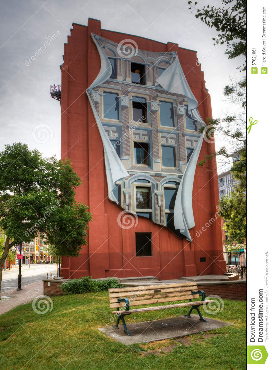 The flatiron building in toronto with trompe l 39 oeil mural - Sticker trompe l oeil mural ...