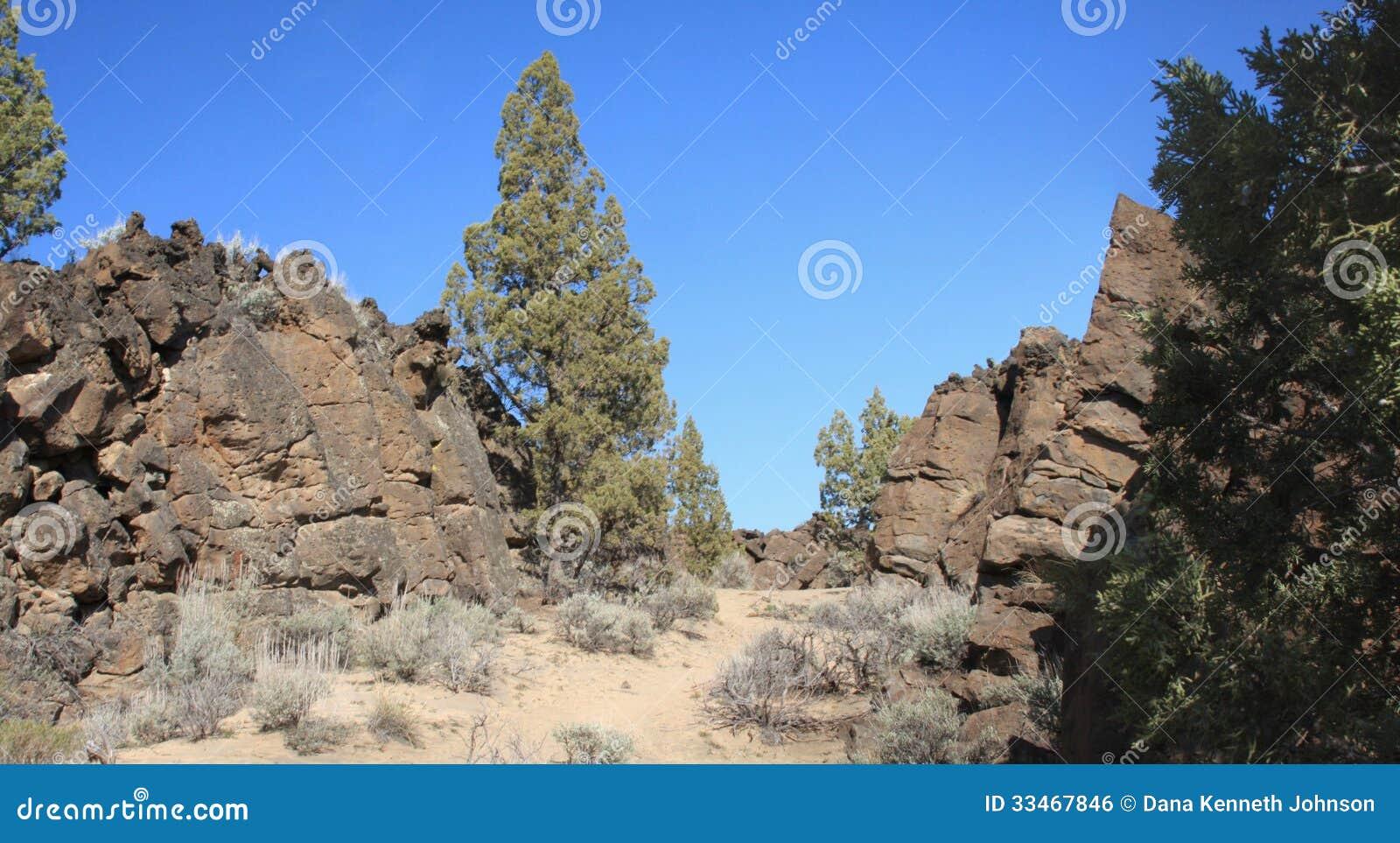 flatiron rock  central oregon badlands stock photo