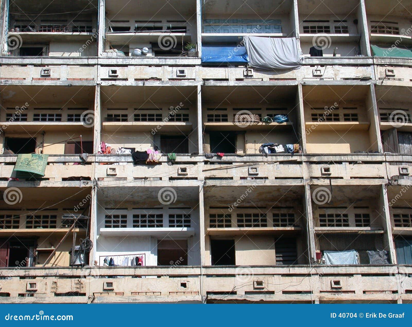 Download Flats in Phnom Penh 2 stock foto. Afbeelding bestaande uit concreet - 40704