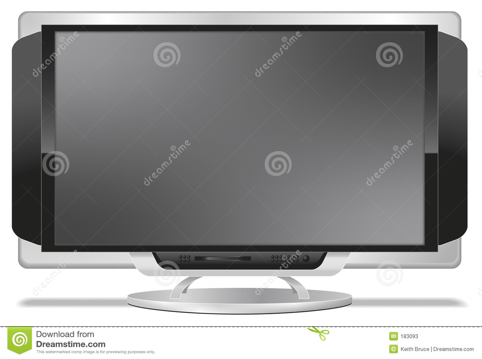 Flatscreen Fernsehapparat