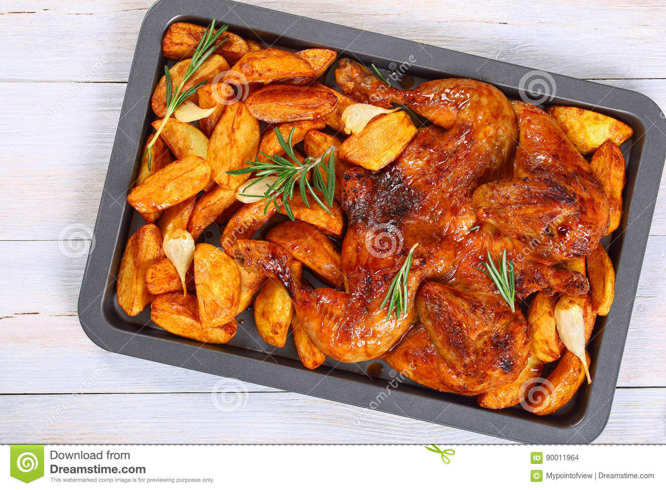 how to cook flattened chicken in the oven