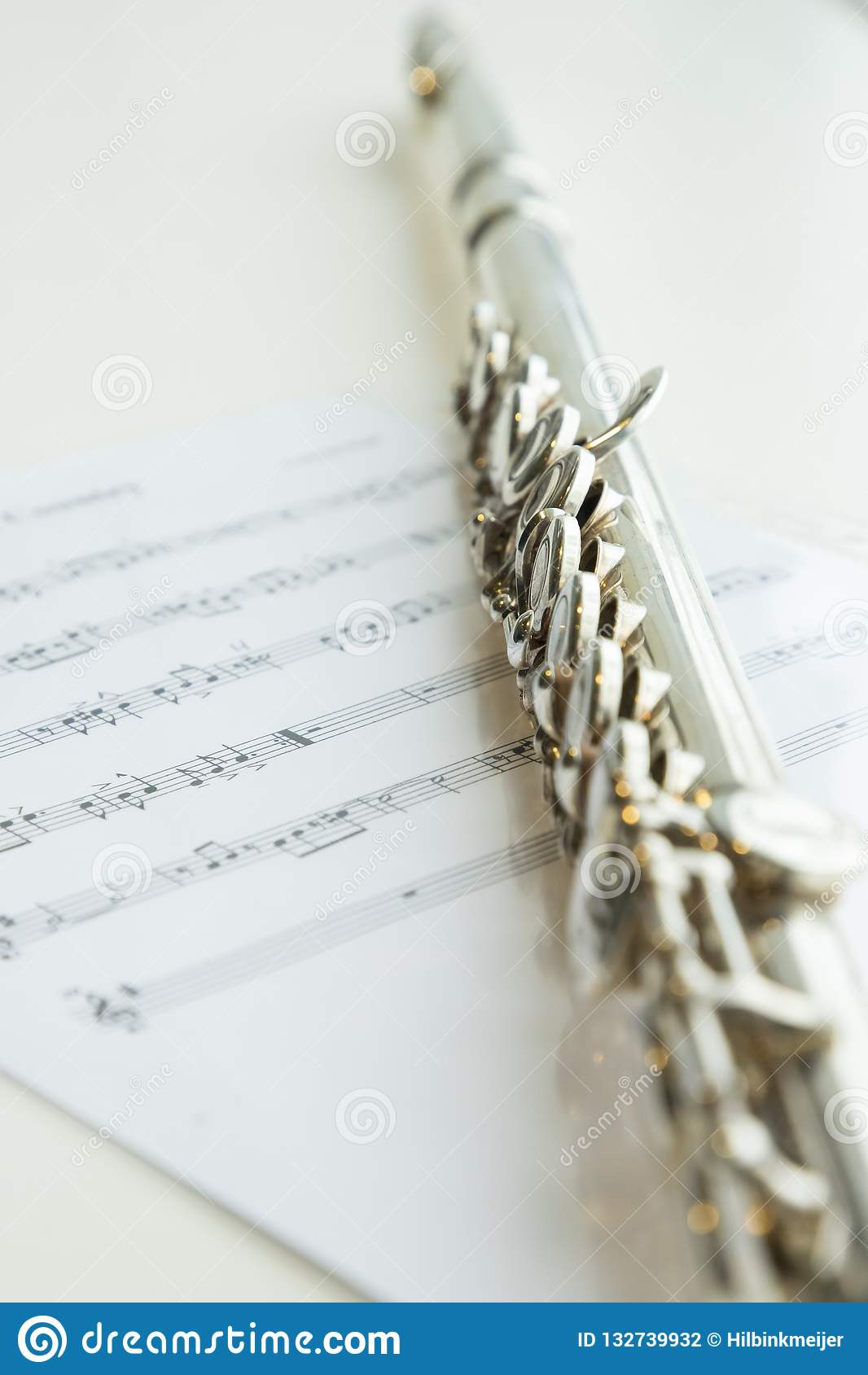 Flauto e note musicali, strumento di musica