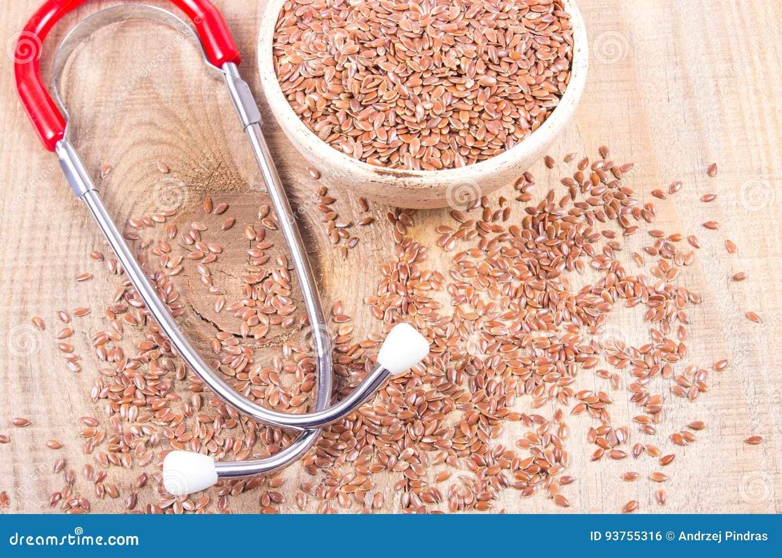 Flaxseed i stetoskop - pojęcie lecznicze własność